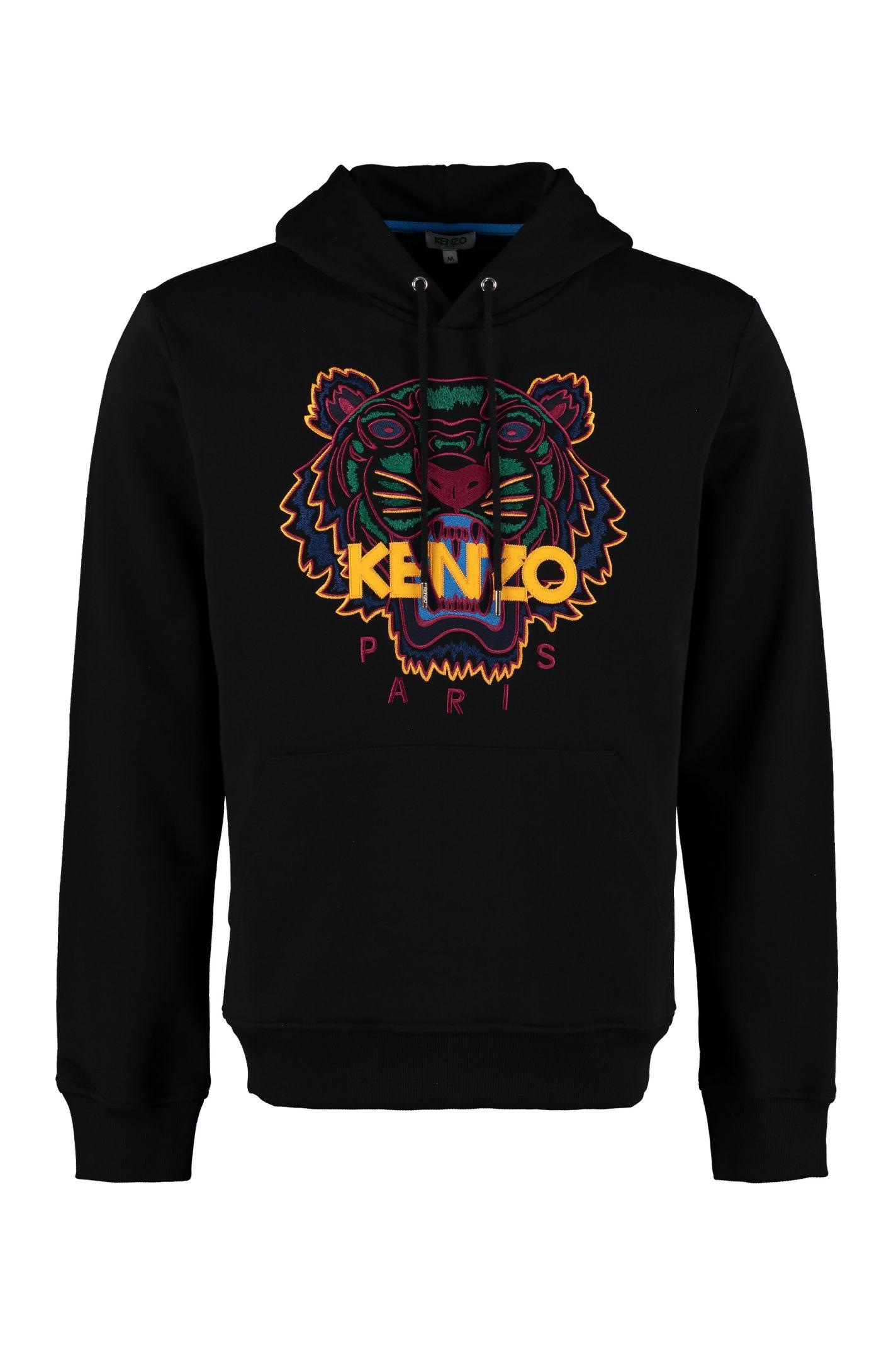 10df0f1cd74 Kenzo Kenzo Tiger Embroidered Cotton Sweatshirt - blue - 10972884 ...