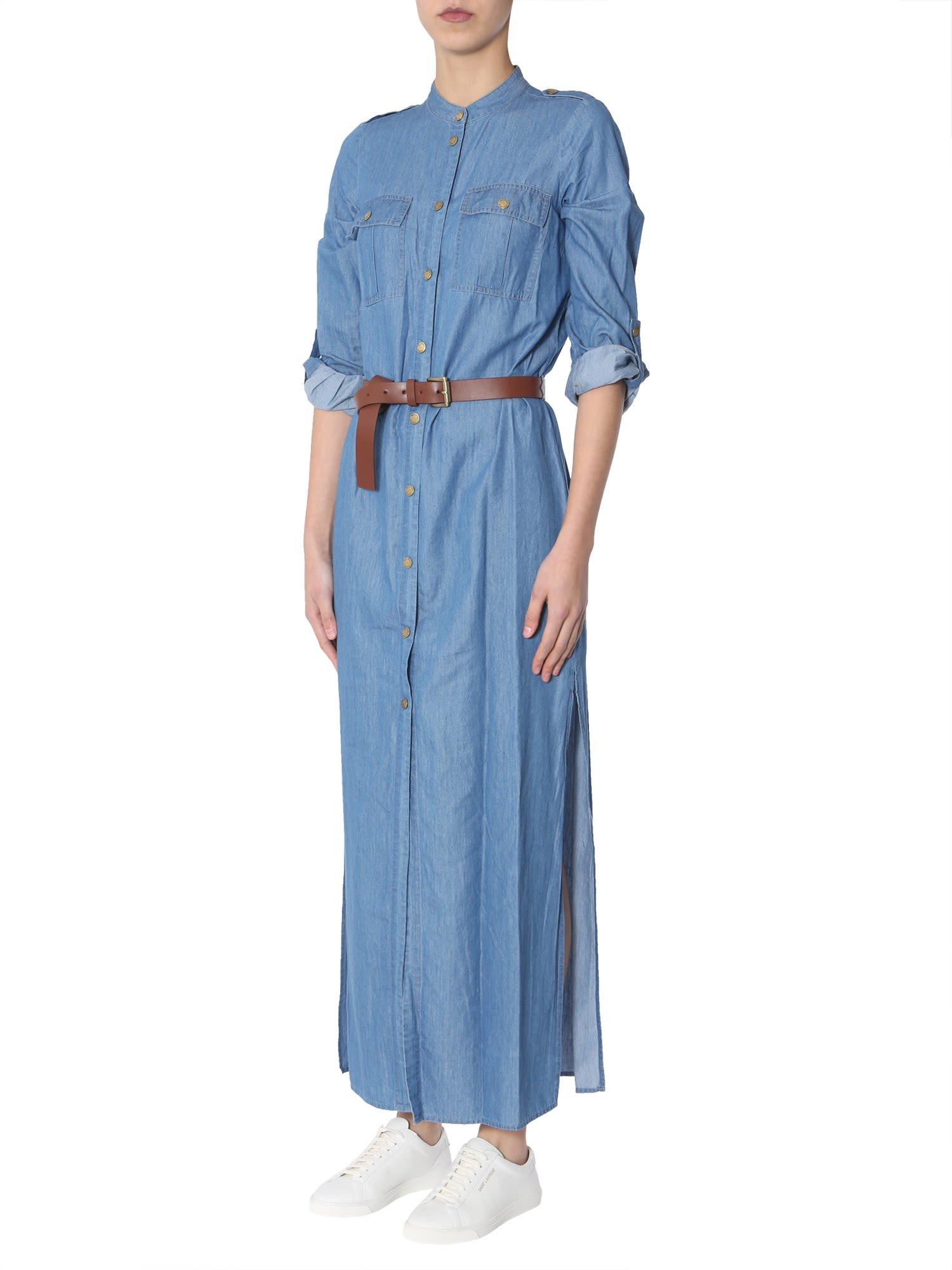 81d3e732b MICHAEL Michael Kors MICHAEL Michael Kors Long Dress - DENIM ...