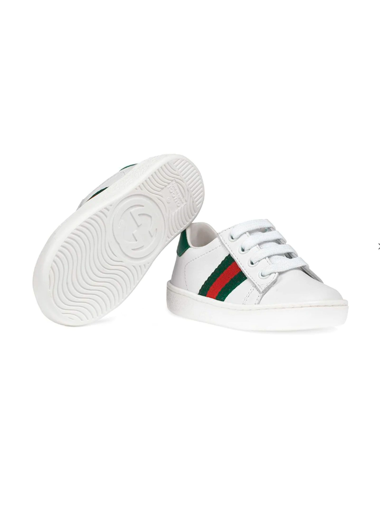 55ecfd326841 Gucci Newborn White Shoes - Basic Gucci Newborn White Shoes - Basic