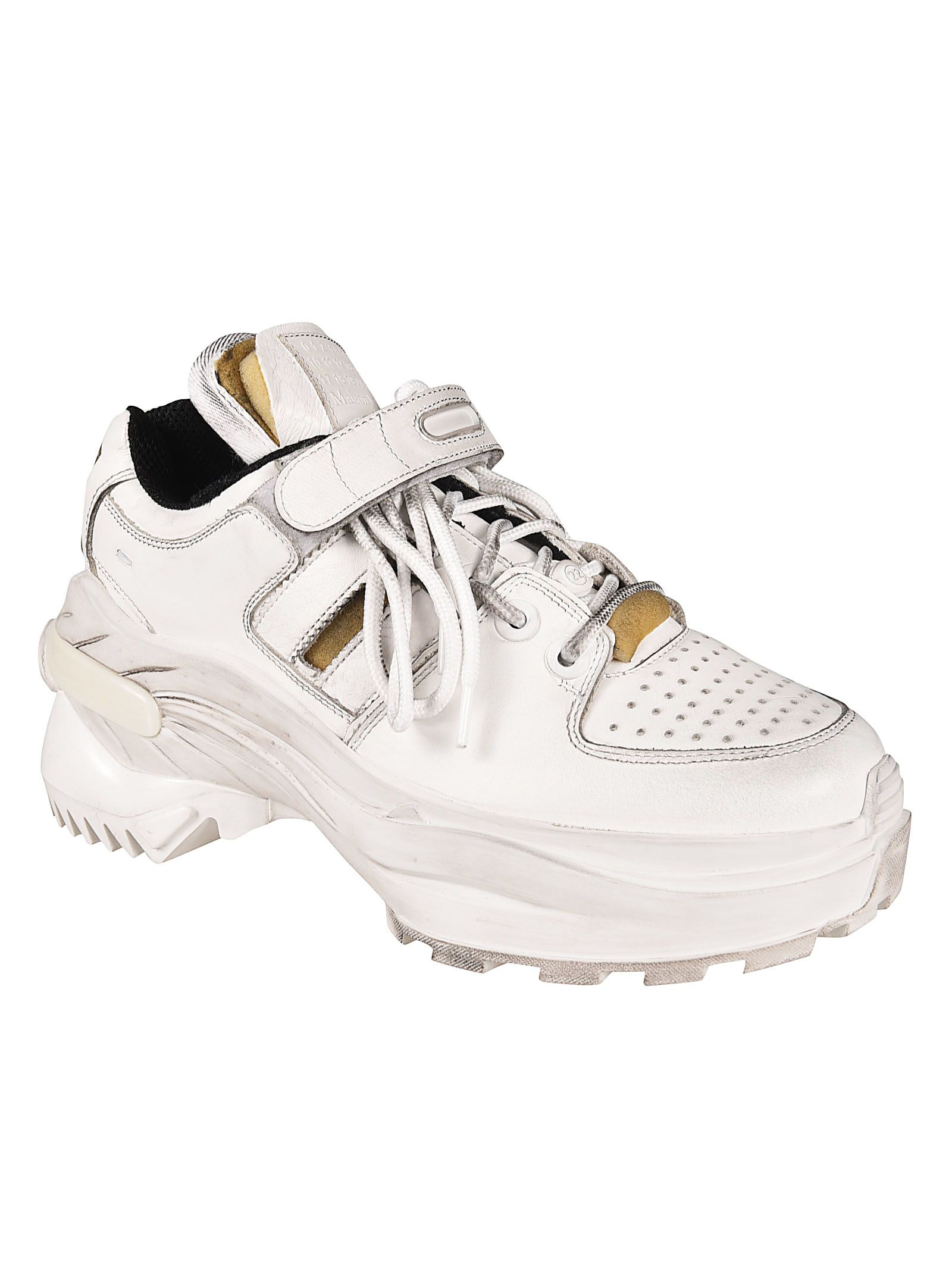 a4bcf7deb797e Maison Margiela Holographic Platform Sneakers - White Maison Margiela  Holographic Platform Sneakers - White ...