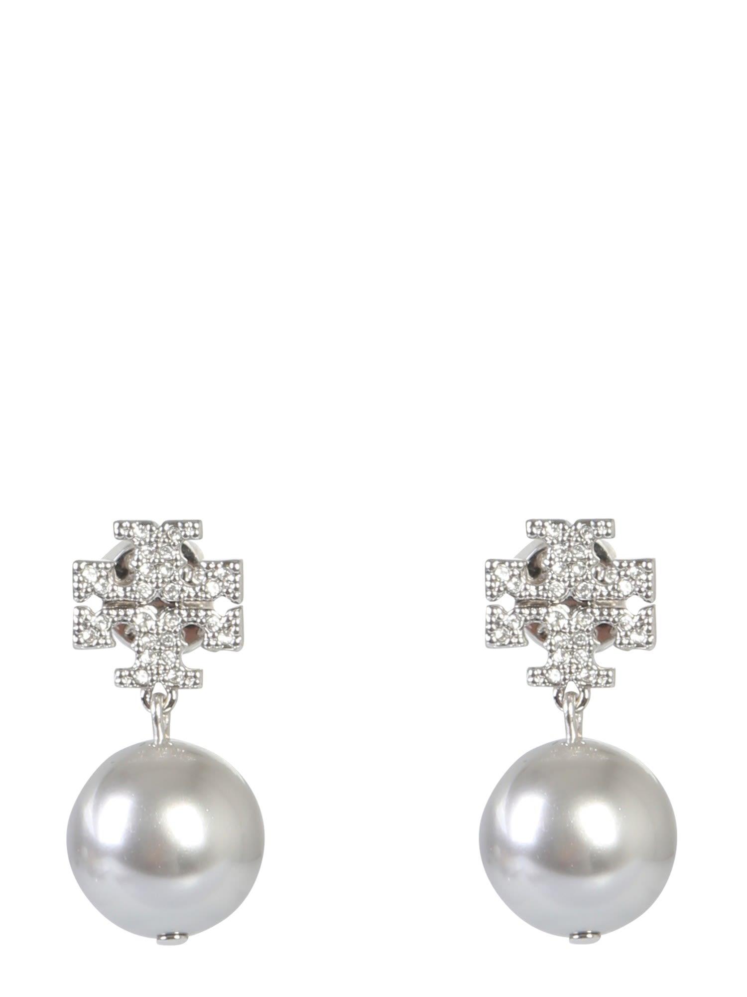 f099eb6b2b1462 Tory Burch Tory Burch Crystal Logo Earrings And Pearl Pendant ...
