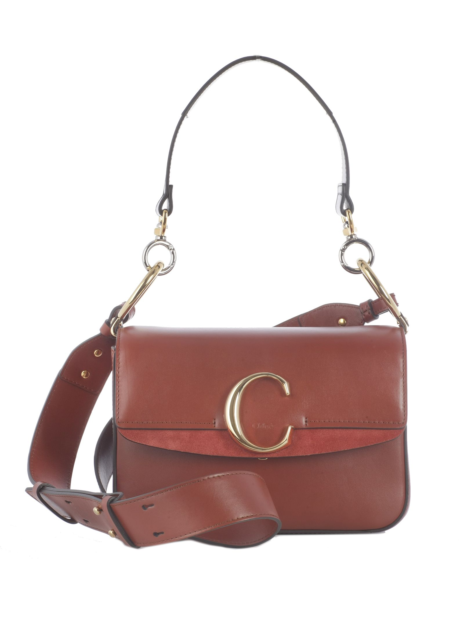 5d7f930804ec Chloé Chloé C Shoulder Bag - S Sepia Brown - 10782348