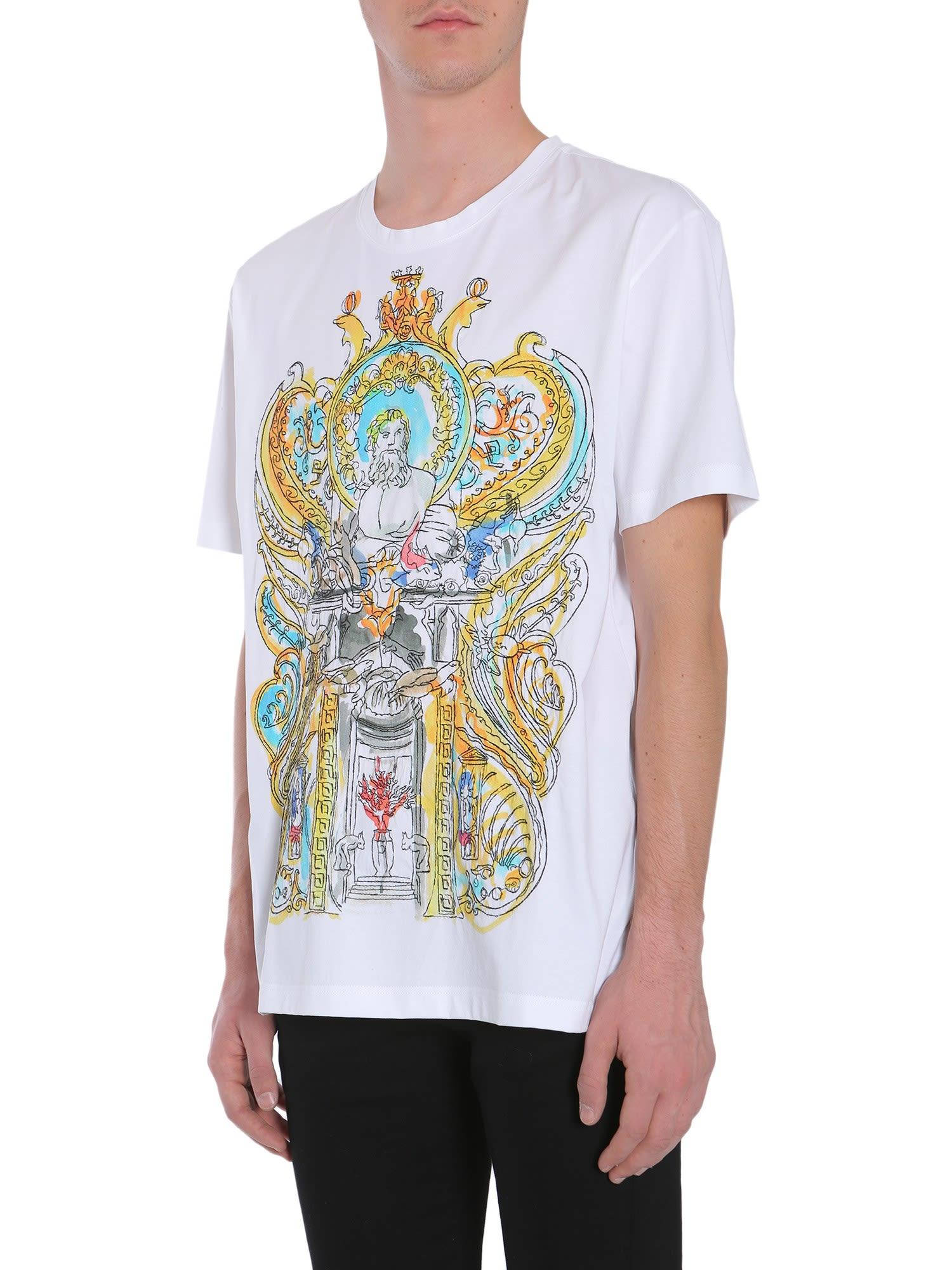 b0135d08a550 Versace Versace Round Collar T-shirt - White - 8631653