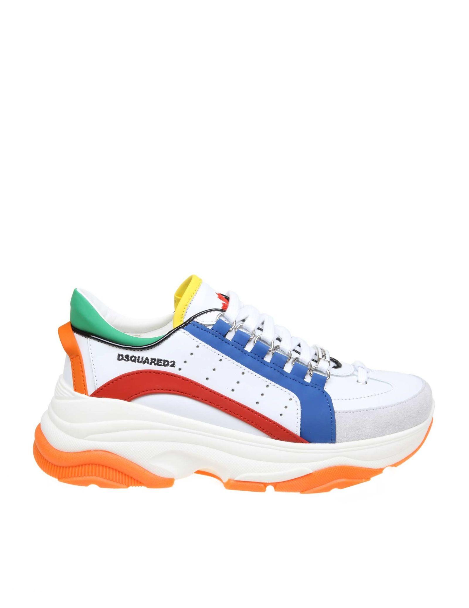 624eb44e654 Dsquared2 Dsquared Sneakers Bumpy 551 In Multicolor Leather - WHITE ...