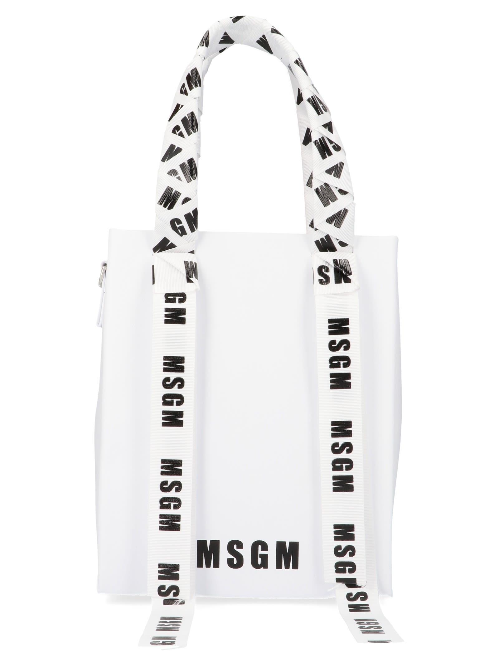 5492571f6b MSGM Msgm Bag - White - 10846000