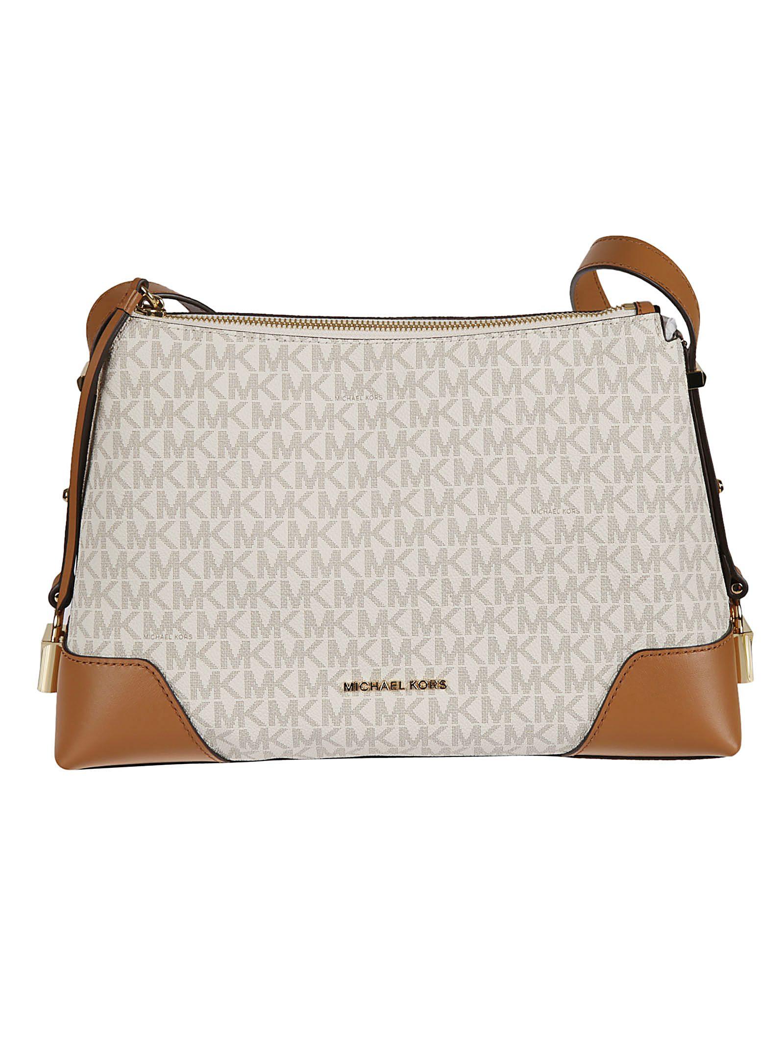 167eeeb78946 Michael Kors Michael Kors Crosby Monogram Shoulder Bag - Vanilla ...