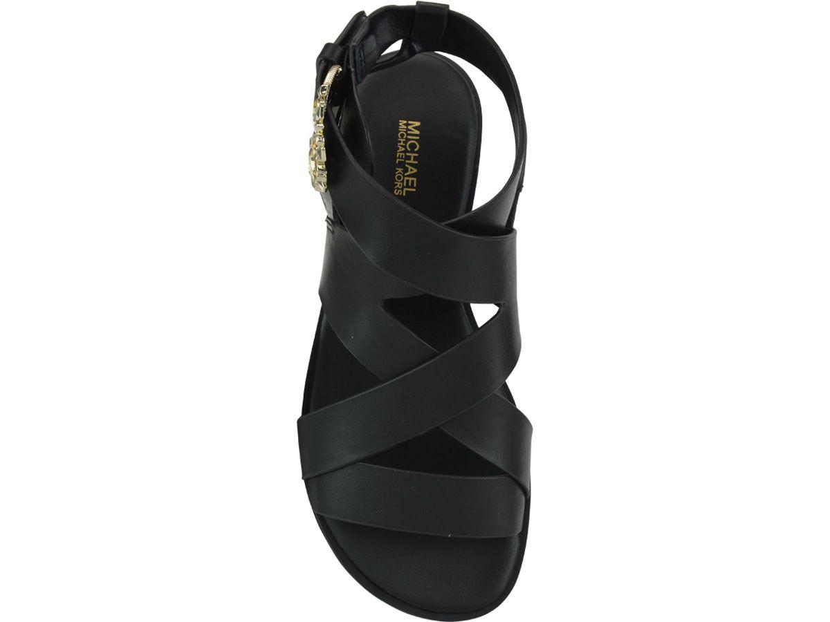 82ae8864bd15 Michael Kors Michael Kors Frieda Flat Sandals - Black - 10913398 ...