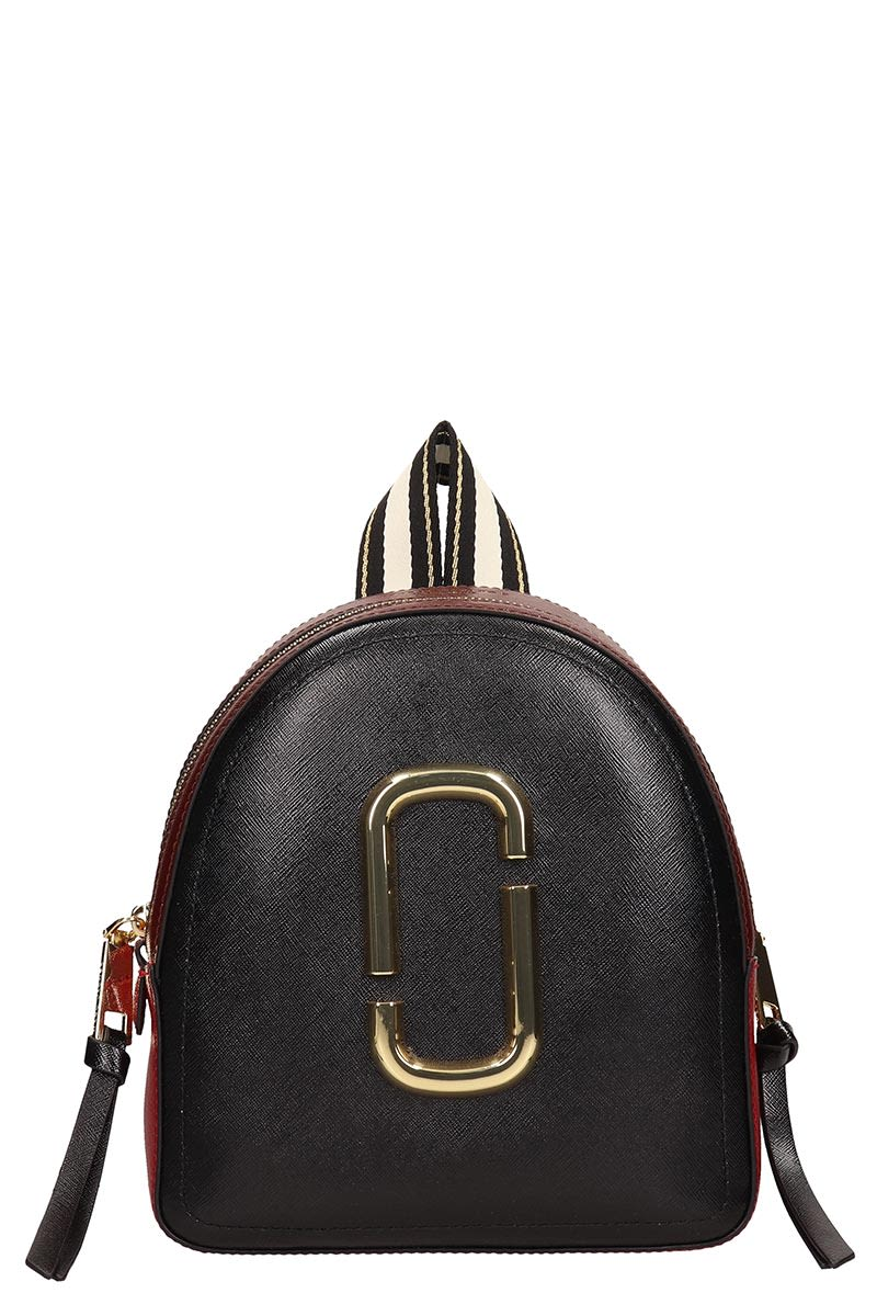 factory authentic new items 2019 professional Marc Jacobs Black And Burgundy Leather Backpack