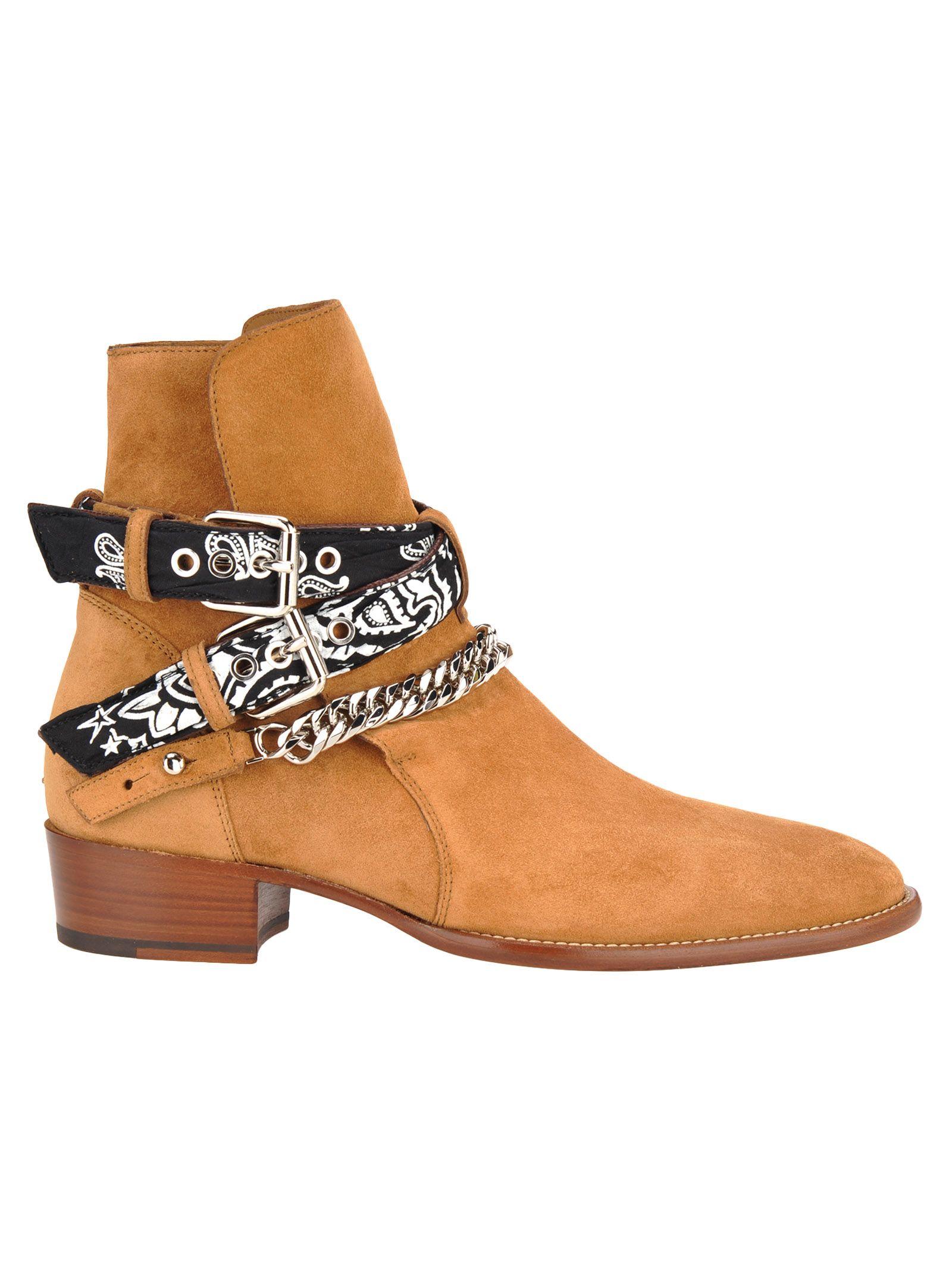 Amiri Amiri Bandana Buckle Boot Brown 10873209 Italist