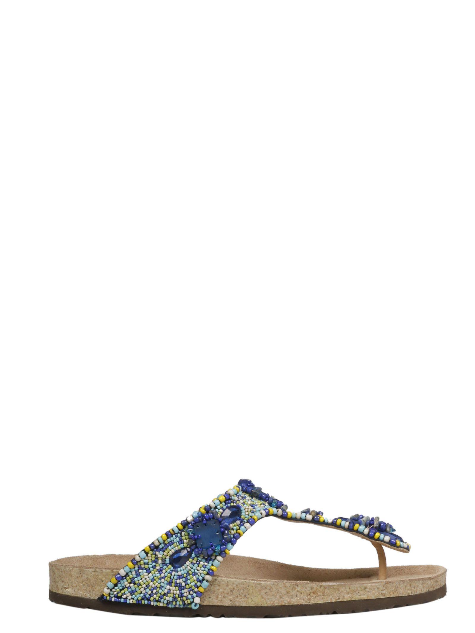5b0dd32e9 Malìparmi Maliparmi Beaded Flip Flops - 10859236