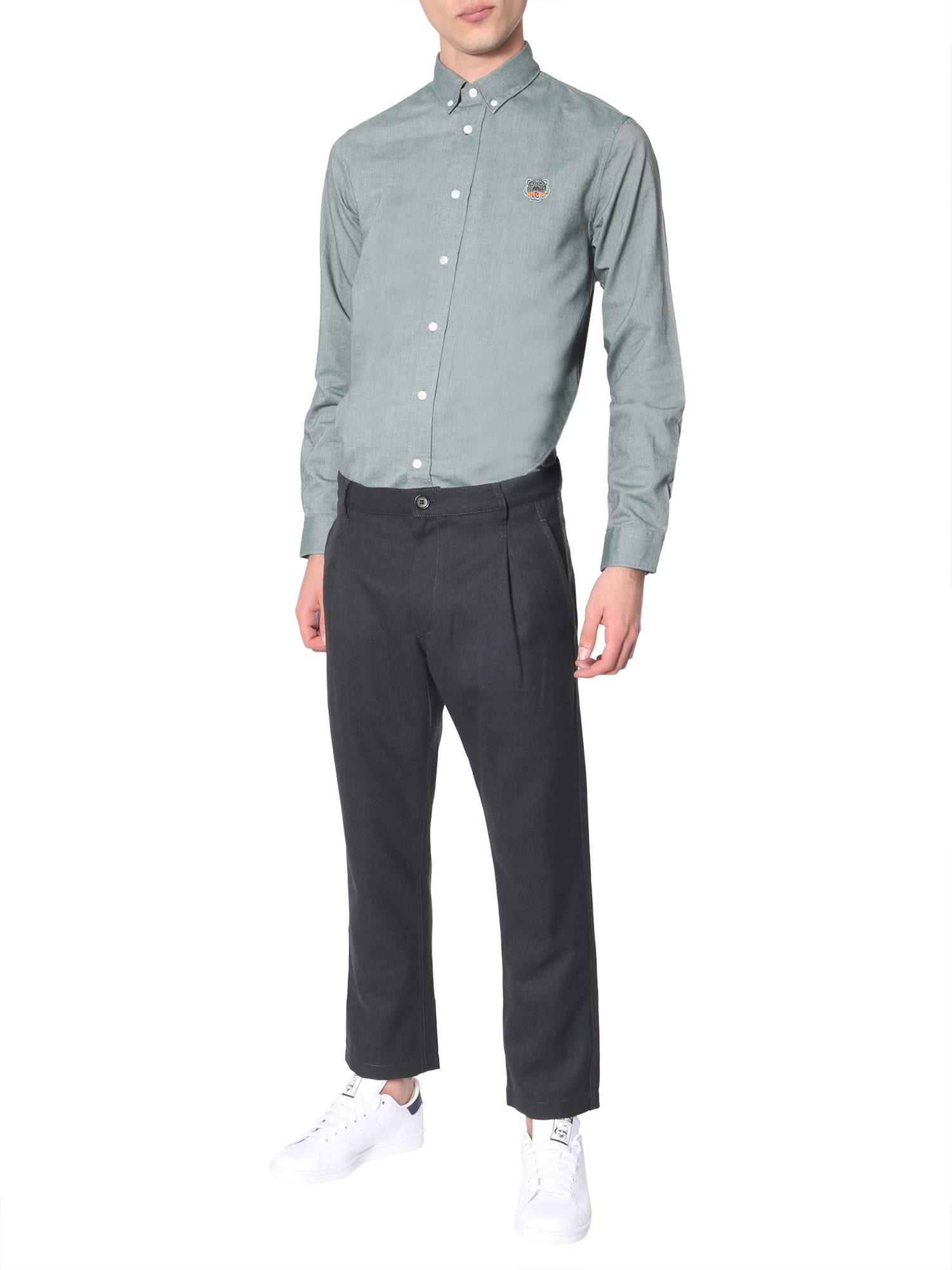 a412c65b Kenzo Kenzo Button-down Shirt - VERDE - 10899403 | italist