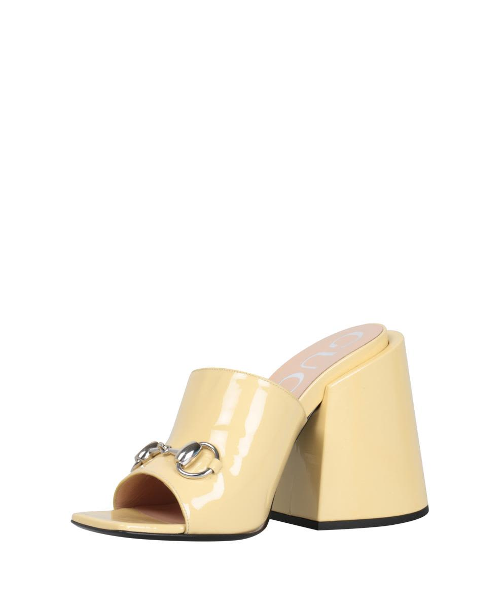 c3b185a4272b Gucci Gucci Patent Leather Sandal - BIANCO - 10740665