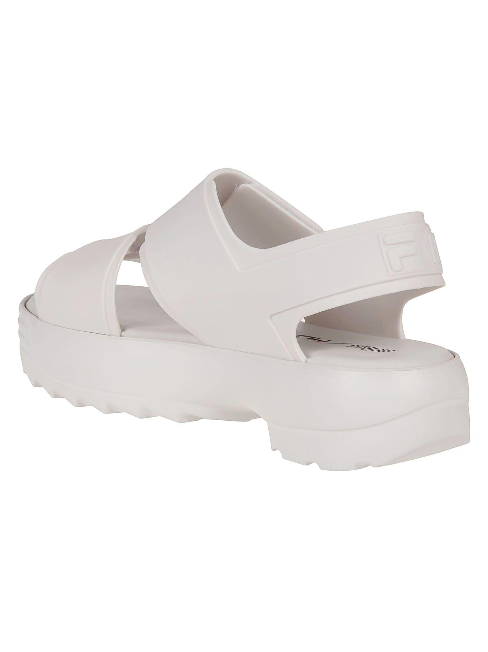 876fc93963b3 Melissa Melissa X Fila Classy Wedge Sandals - White - 10908832