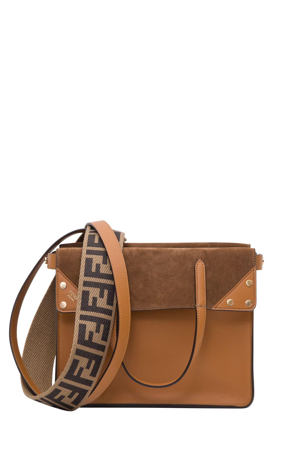 d02c1f60e407 Fendi Fendi Small Flip Tote Bag - Marrone - 10903375