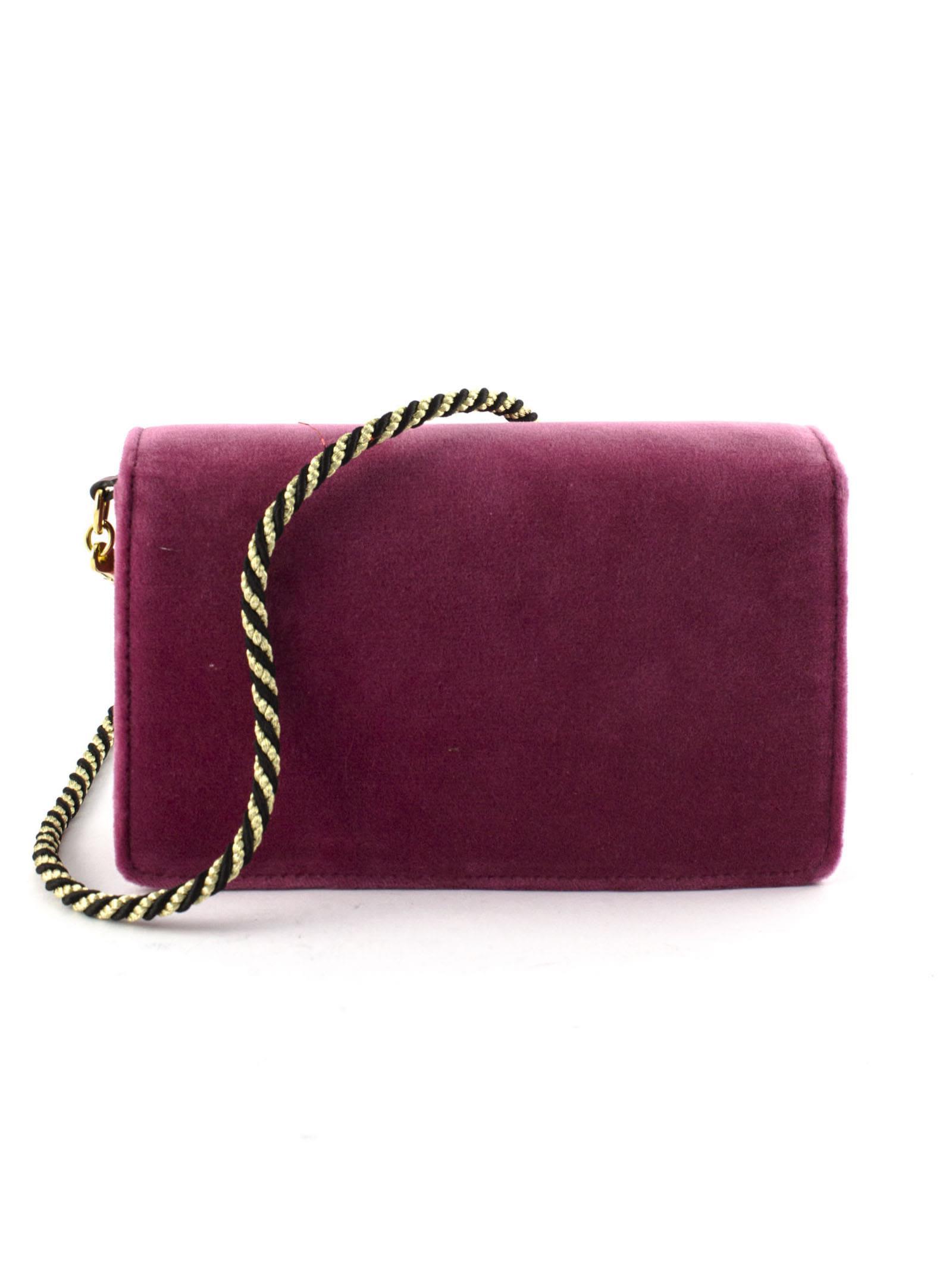 c010d1c1c694 Gucci Gucci Pink Velvet Shoulder Bag - Rosa - 10935262