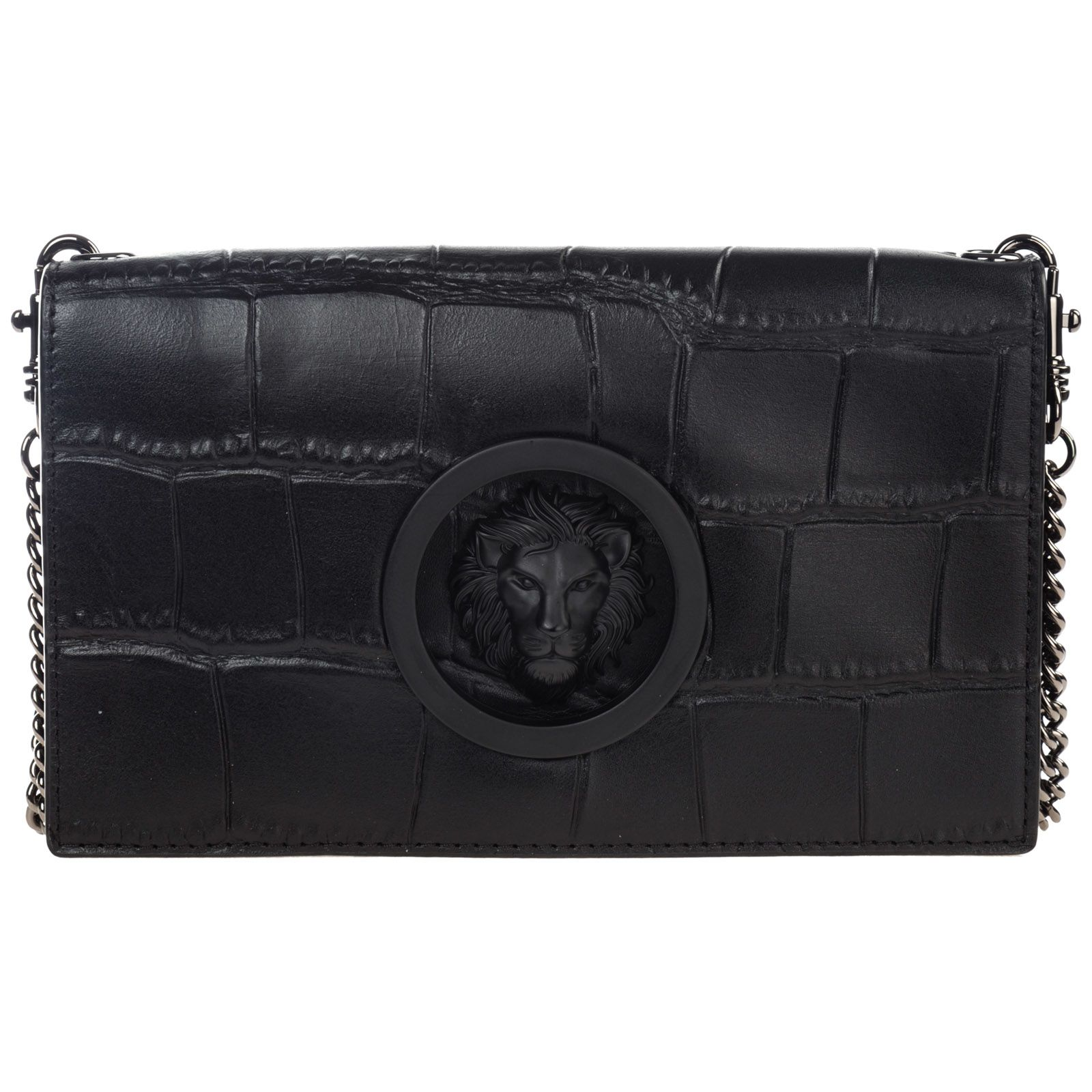 77a4dde557 Versus Versace Leather Cross-body Messenger Shoulder Bag Lion Head - Black  ...