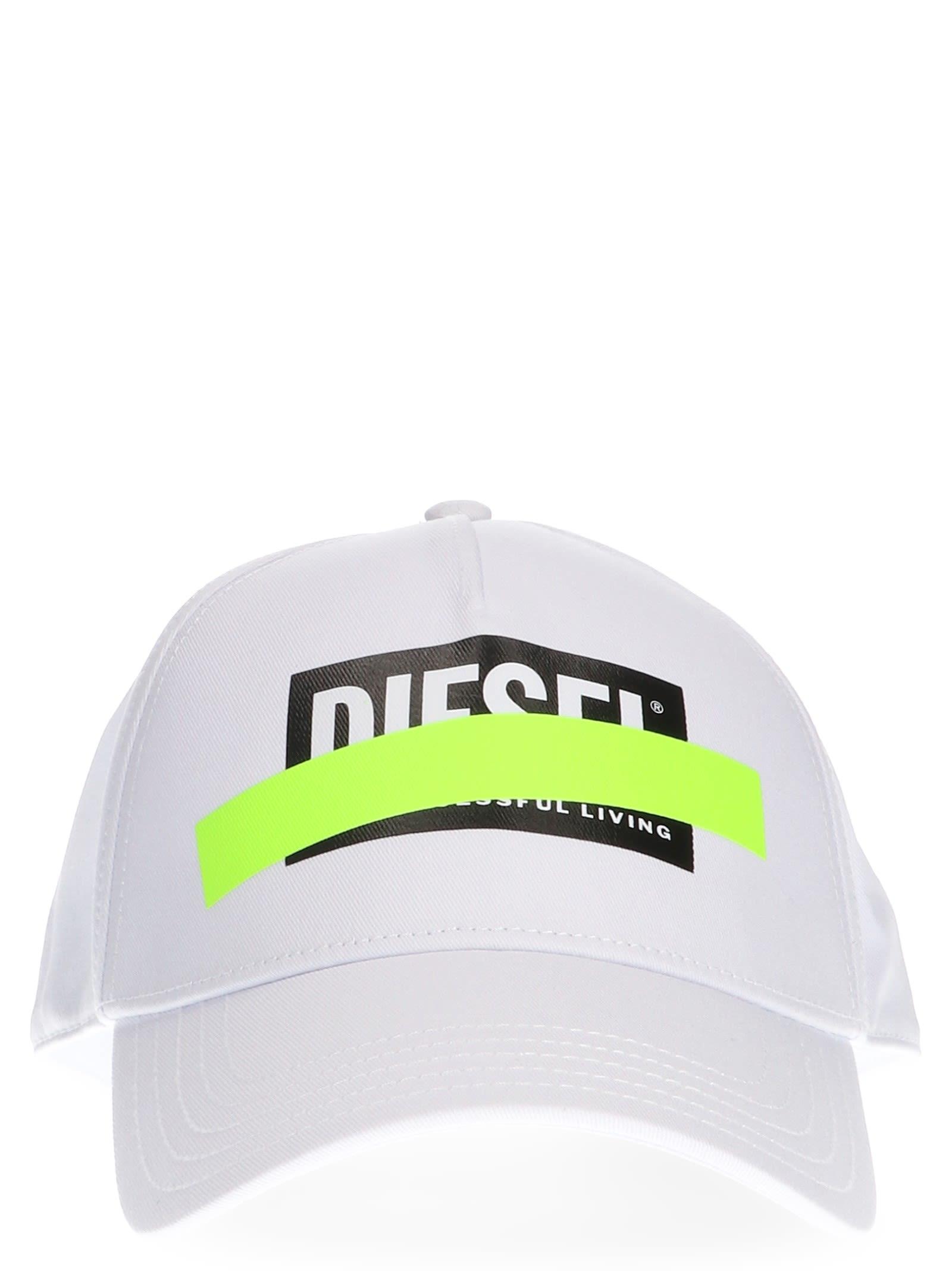 Diesel Diesel  ciride  Cap - White - 10804663  2431e54a8968