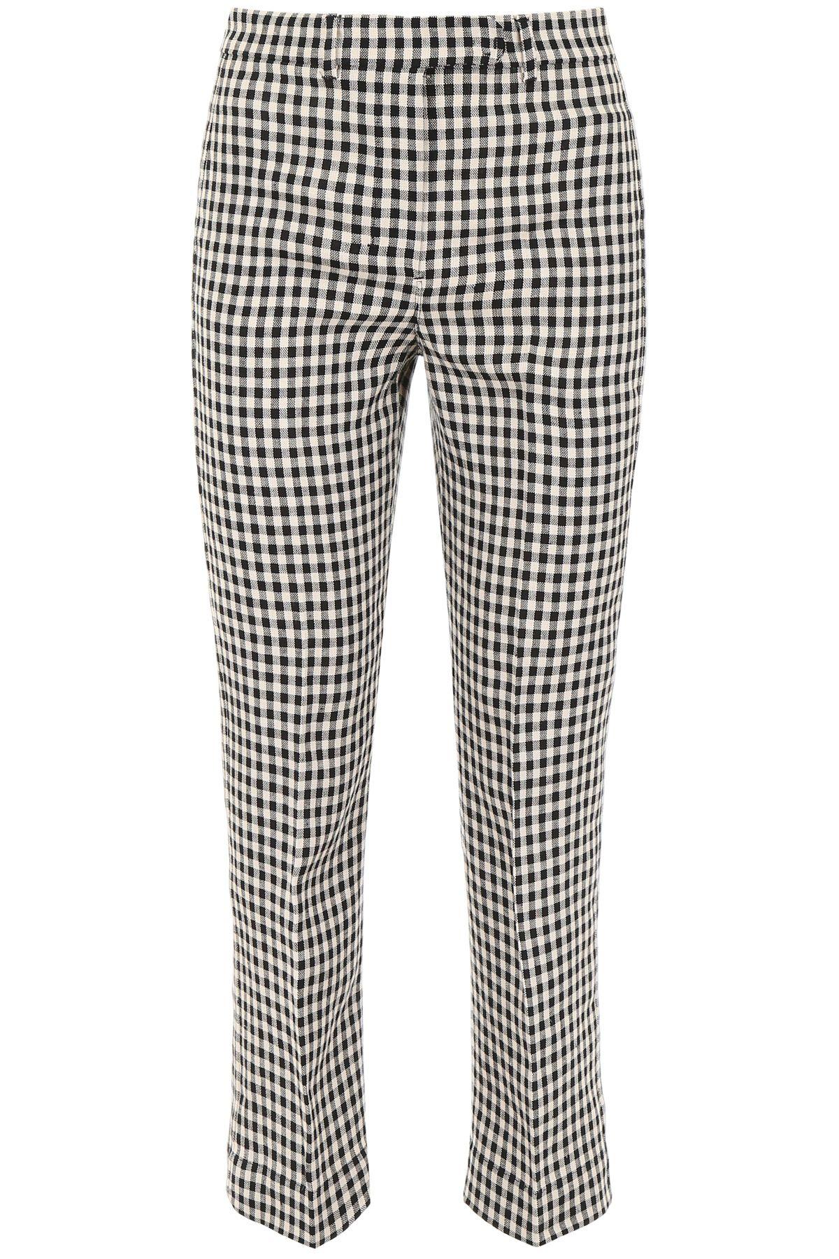 c4fef4b3ab7a9 'S Max Mara Here is The Cube Gingham Linen Trousers - QUADRETTO NERO ECRU  ...