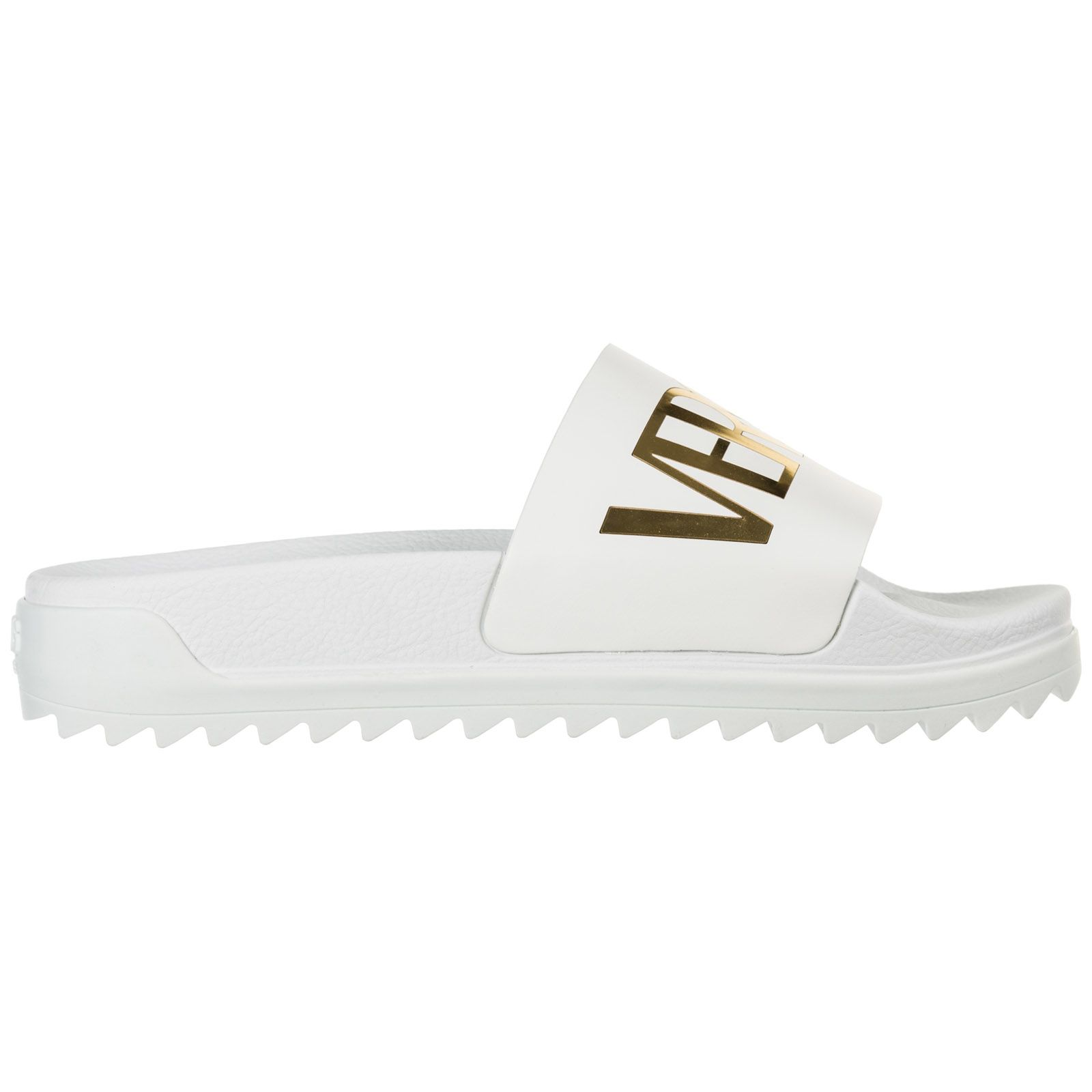 9958068bd90 Versus Versace Slippers Sandals Rubber Versus Logo - Optic white - Gold ...