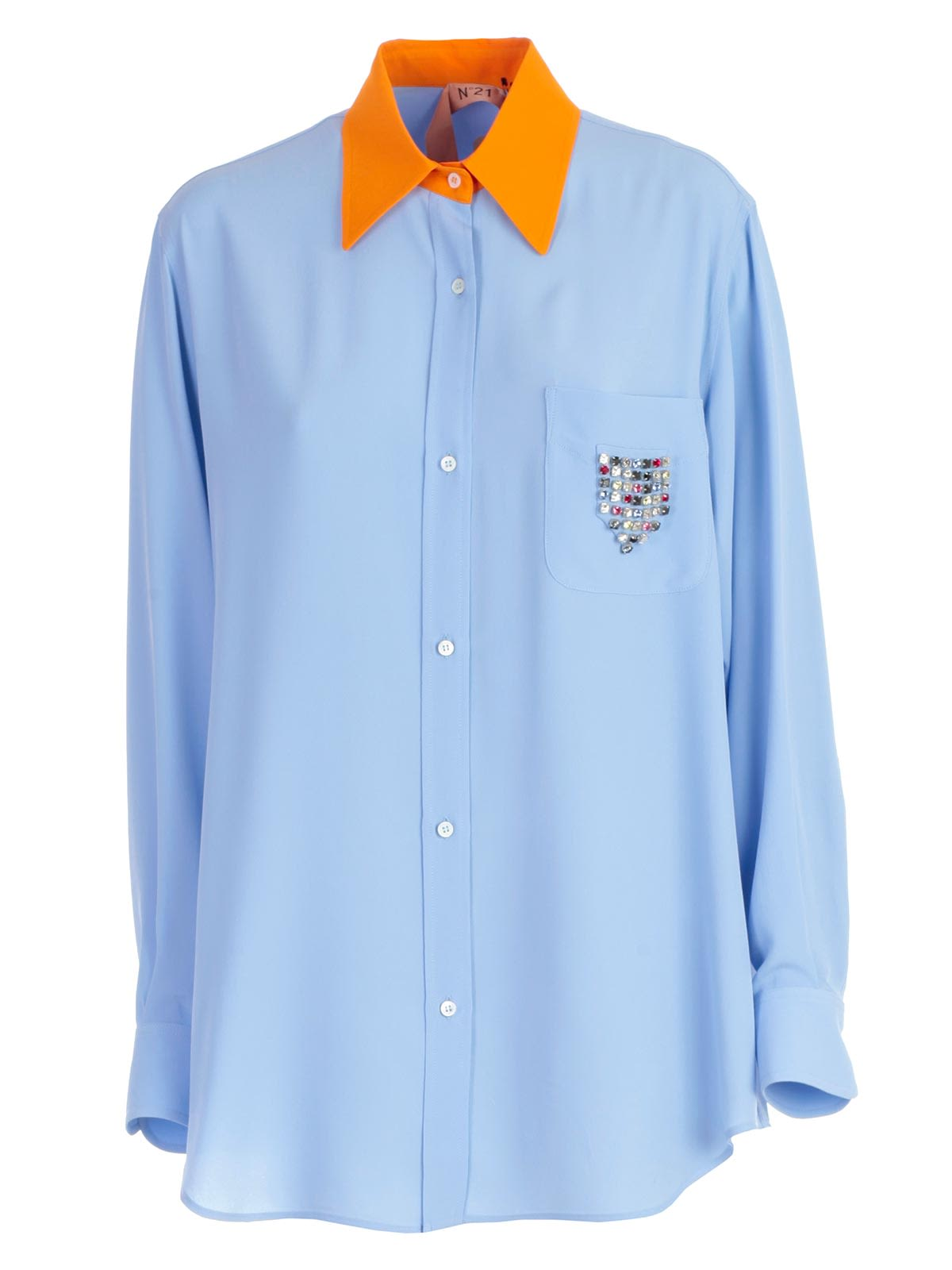 21 Pastel Blue Bedroom Designs Decorating Ideas: N.21 N.21 Crystal Embellished Shirt