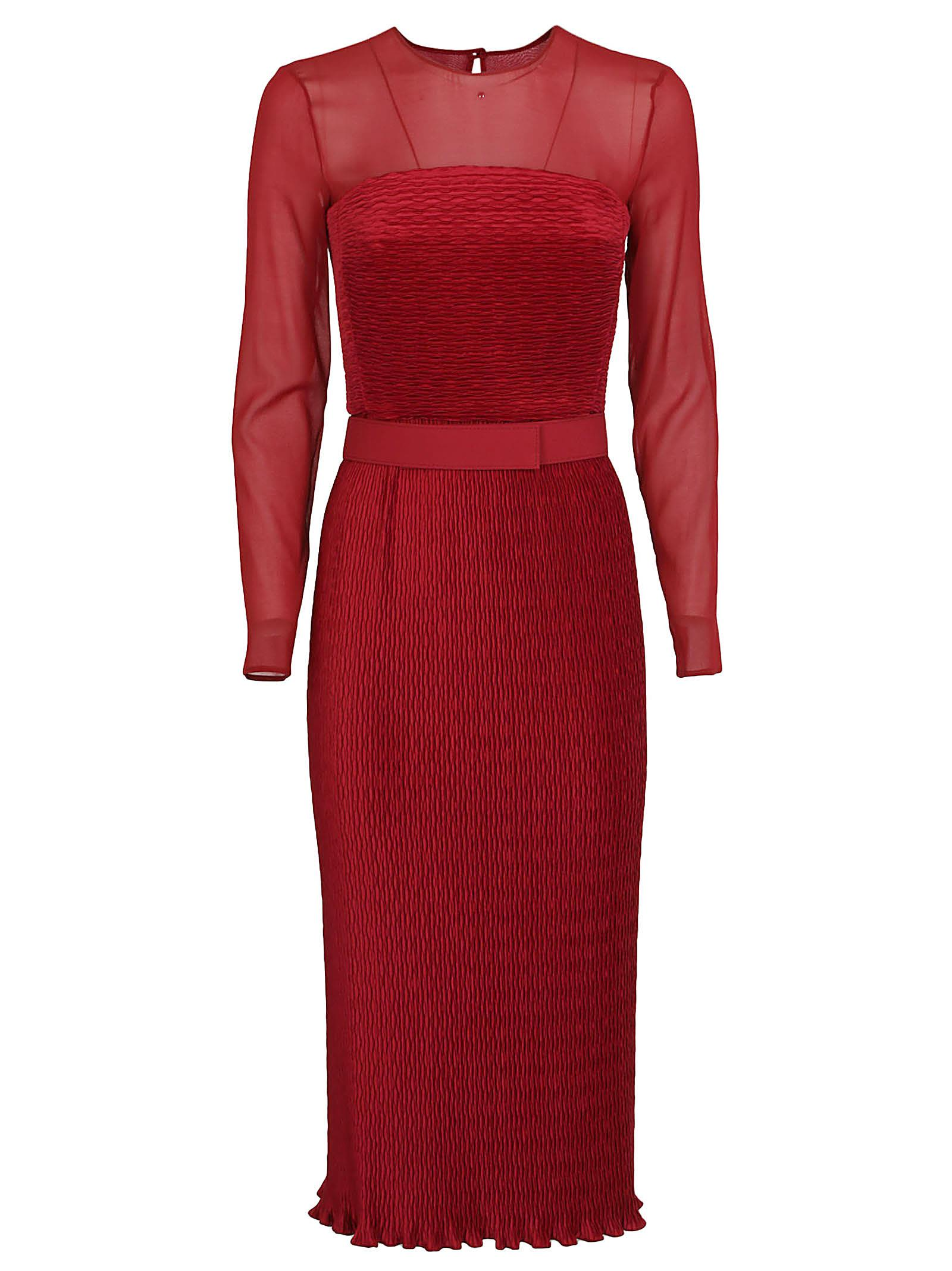 3f9219829e8 Max Mara Max Mara Elegante Belted Knit Dress - Red - 10819041