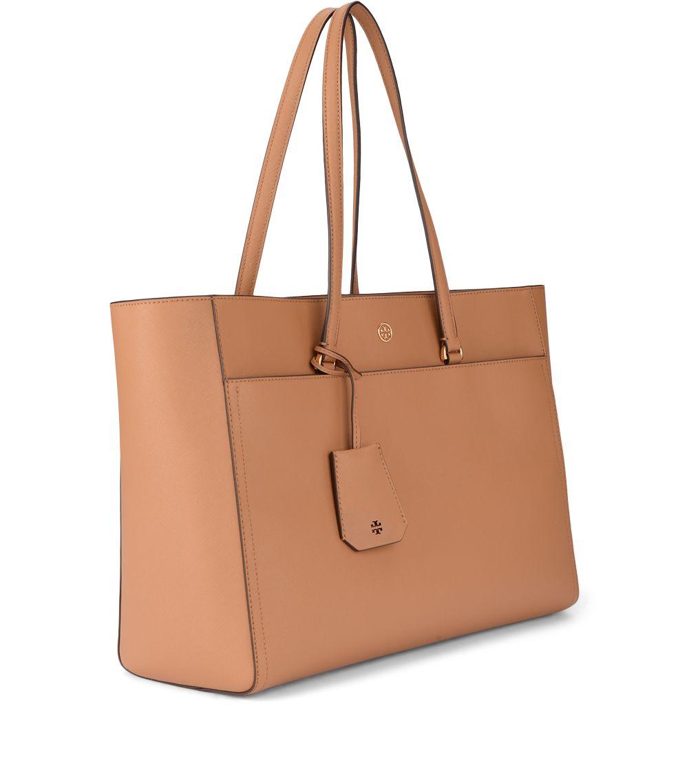 0b58d3646bceb4 ... Tory Burch Robinson Cardamom Saffiano Leather Shoulder Bag - MARRONE