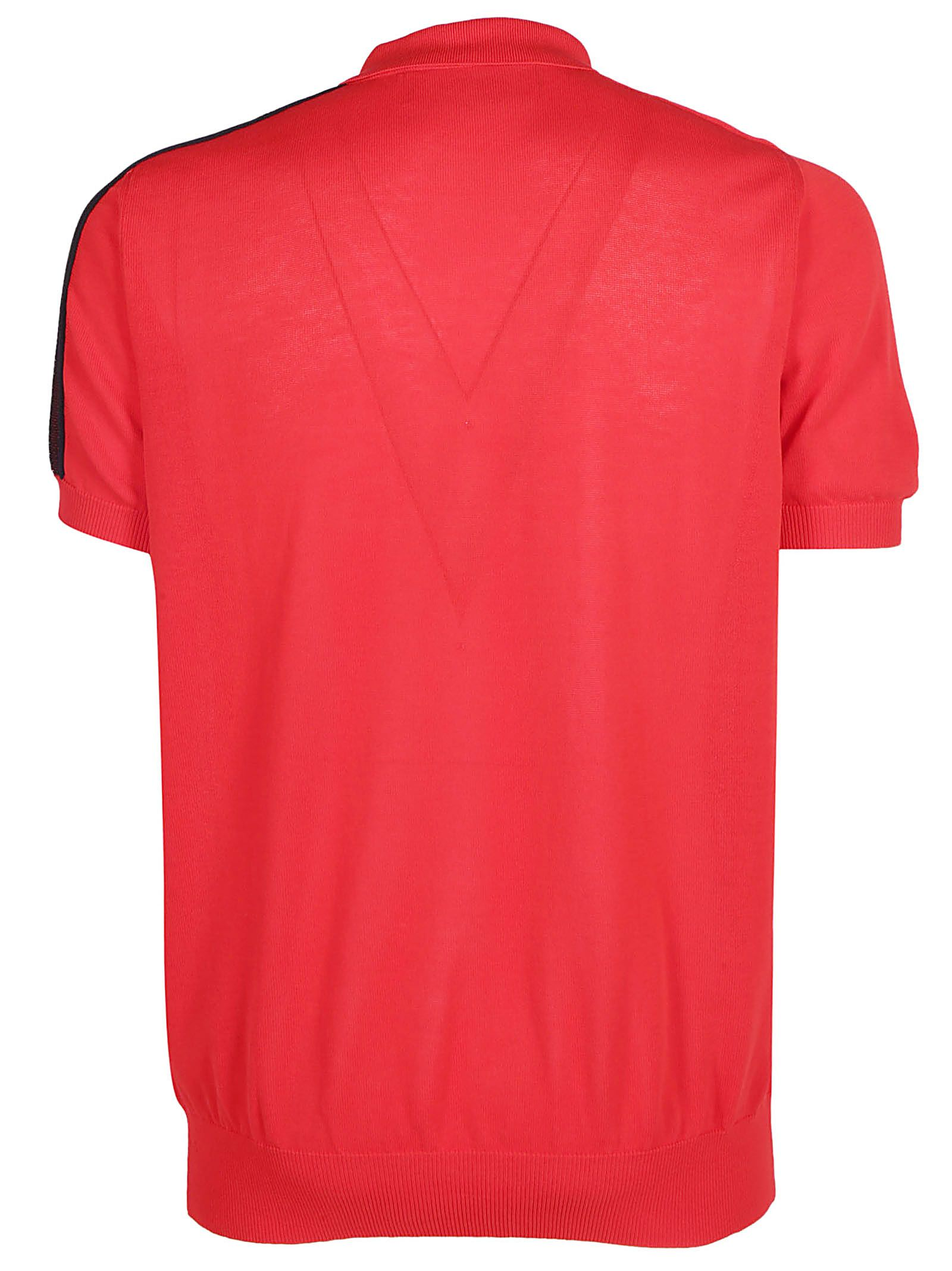 4128d3a6 Dsquared2 Dsquared2 Knit Polo Shirt - Red/black - 10925868 | italist