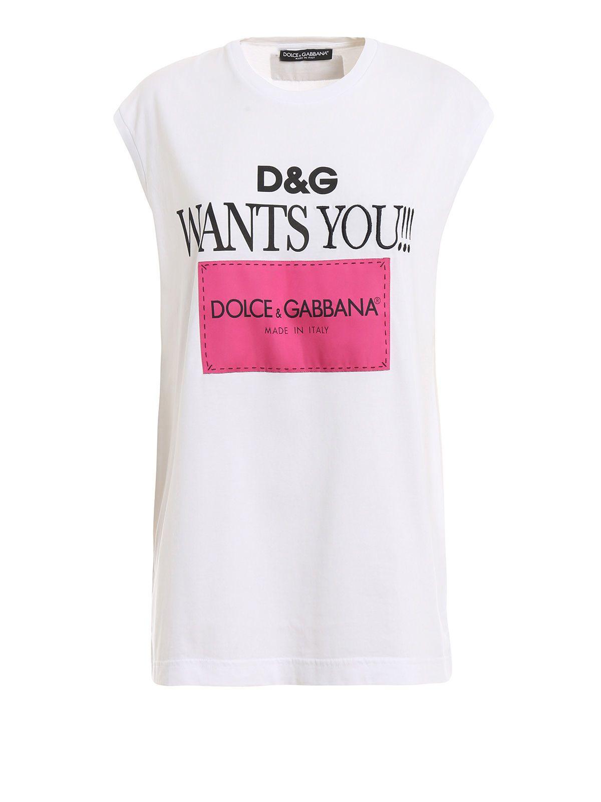 6c7988b4 Dolce & Gabbana Dolce & Gabbana Logo Print Sleeveless T-shirt - Dg ...