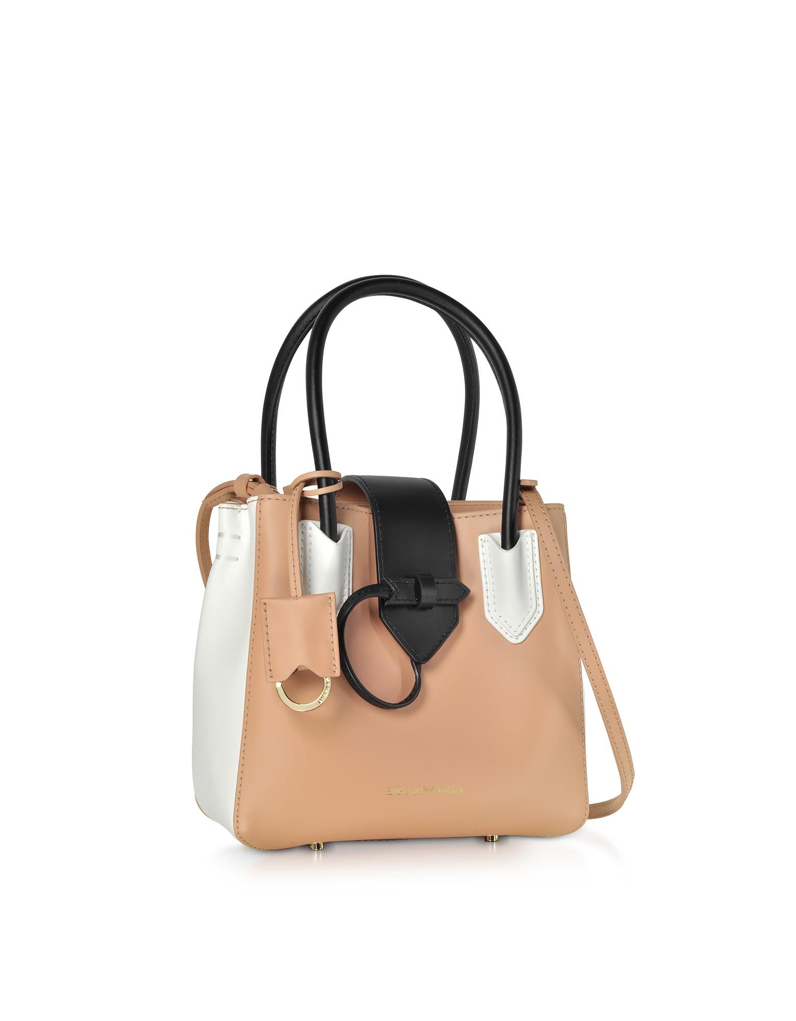 Emporio Armani Emporio Armani Color Block Satchel Bag - Black ... c6437adcc052d