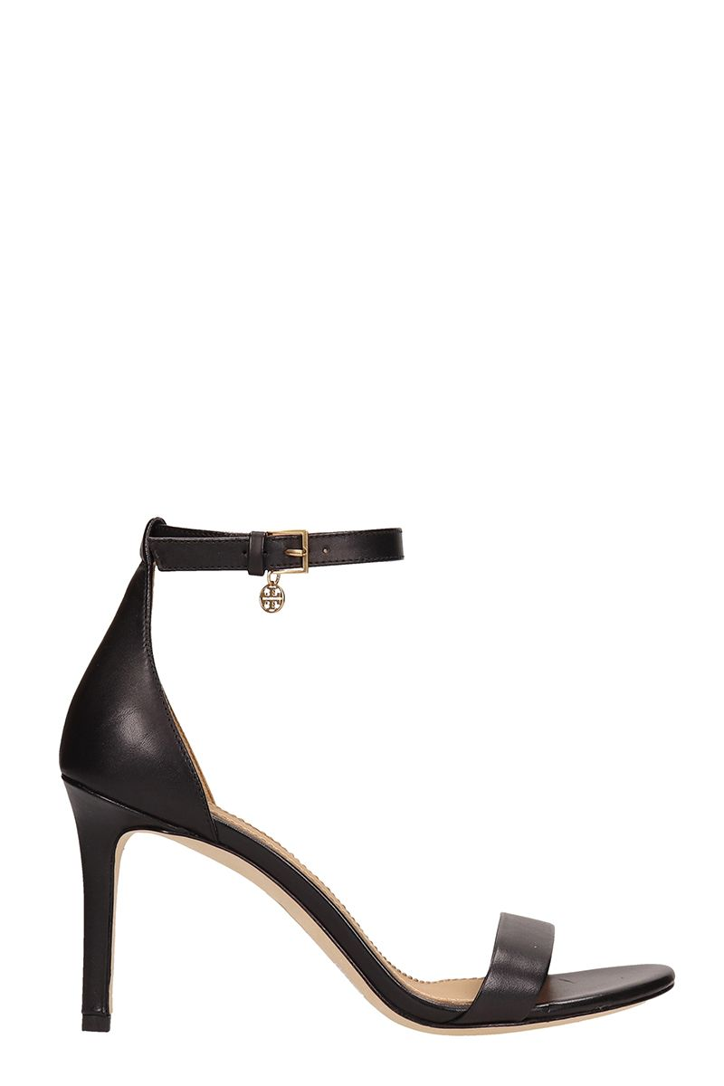 Tory Burch Tory Burch Ellie Black Leather Ankle-strap Sandals ...