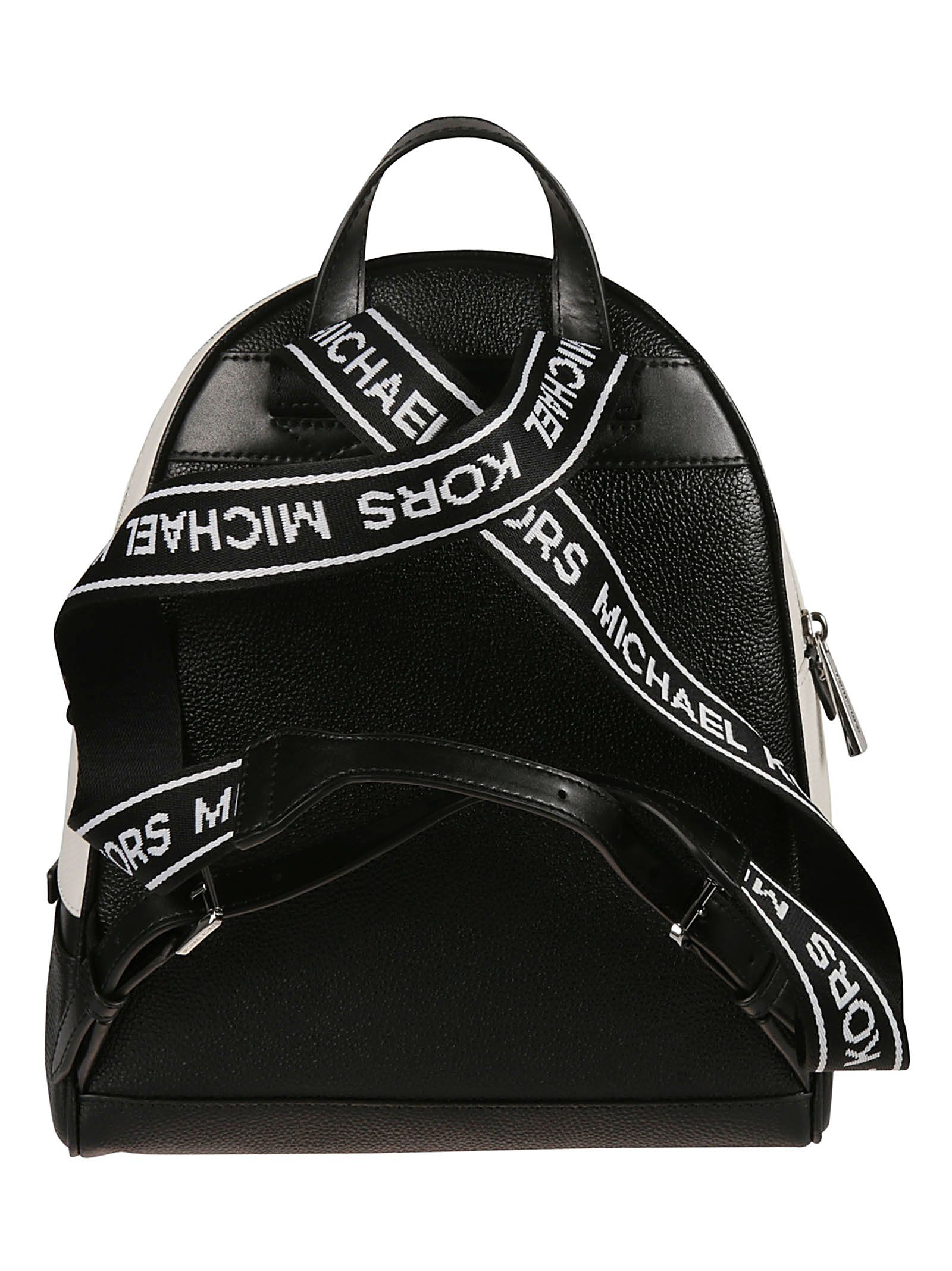Michael Kors Michael Kors Rhea Backpack - Black optic white ... 3a26d63b92329