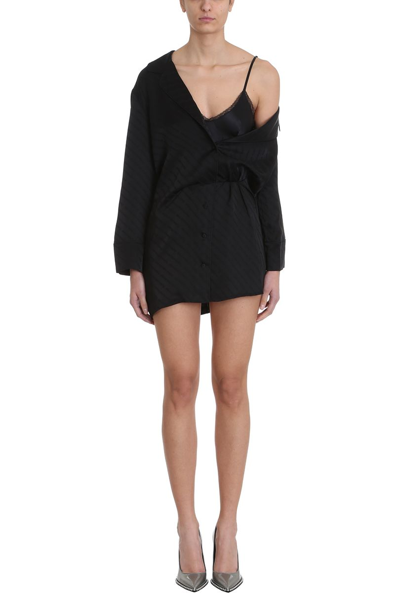 13d6a4fc3bb Alexander Wang Alexander Wang Pajama Shirt Dress - black - 10794967 ...