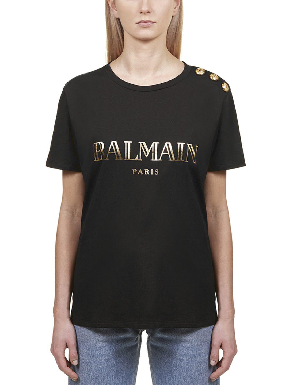 adb0d9b92 Balmain Balmain Short Sleeve T-Shirt - Nero oro - 10786930   italist