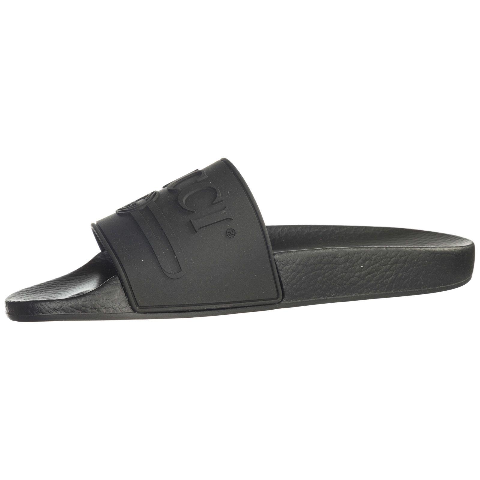 e6c6c5aec Gucci Gucci Rubber Slippers Sandals Logo - Nero - 10832676