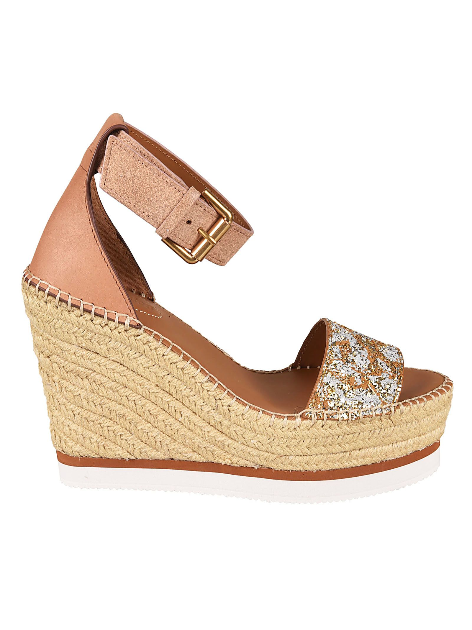 885caca9951 See by Chloé See By Chloé Braided Platform Sandals - Beige ...