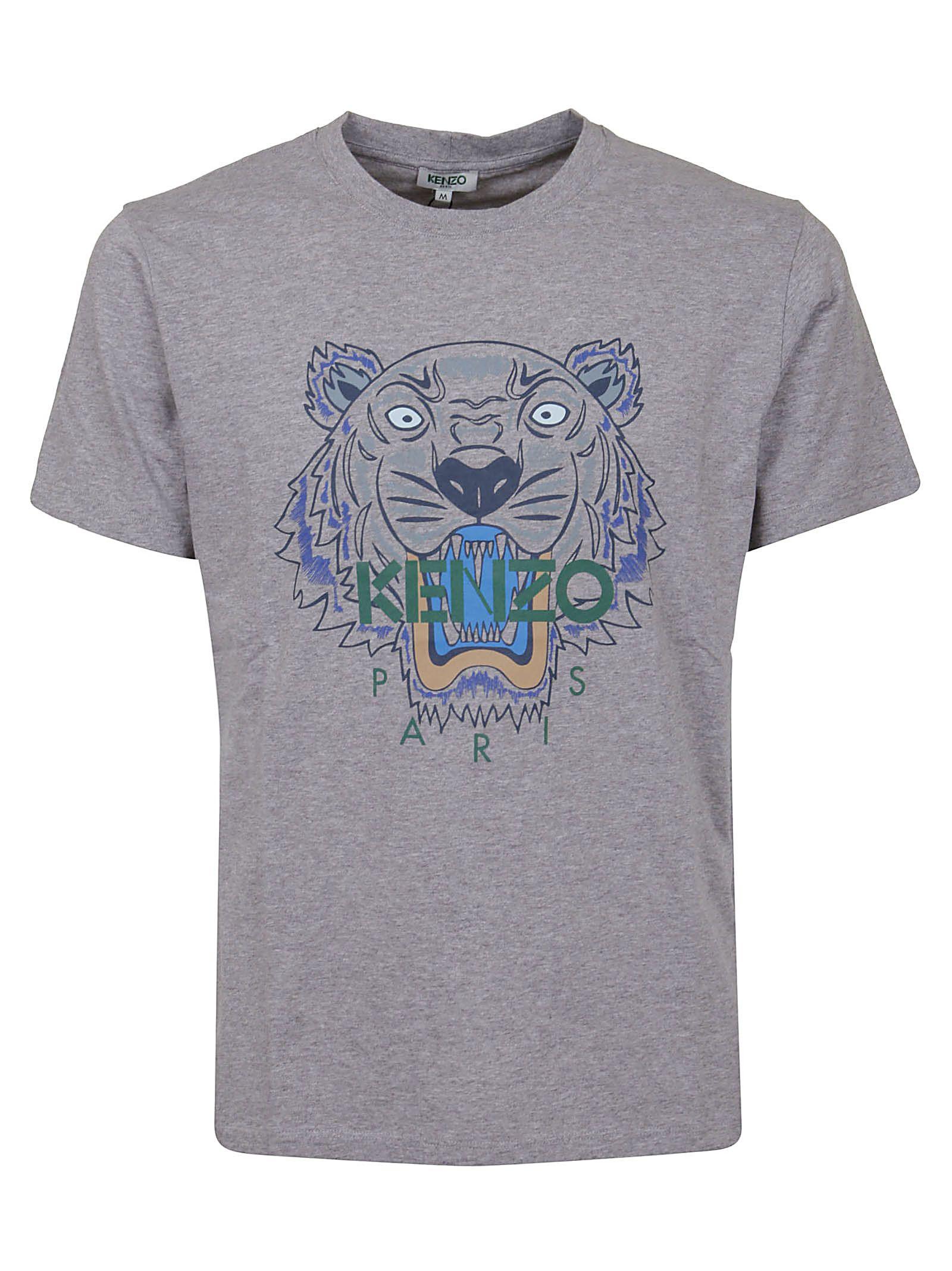 b6160fc4 Kenzo Kenzo Classic Tiger T-shirt - Pearl Grey - 10962304 | italist