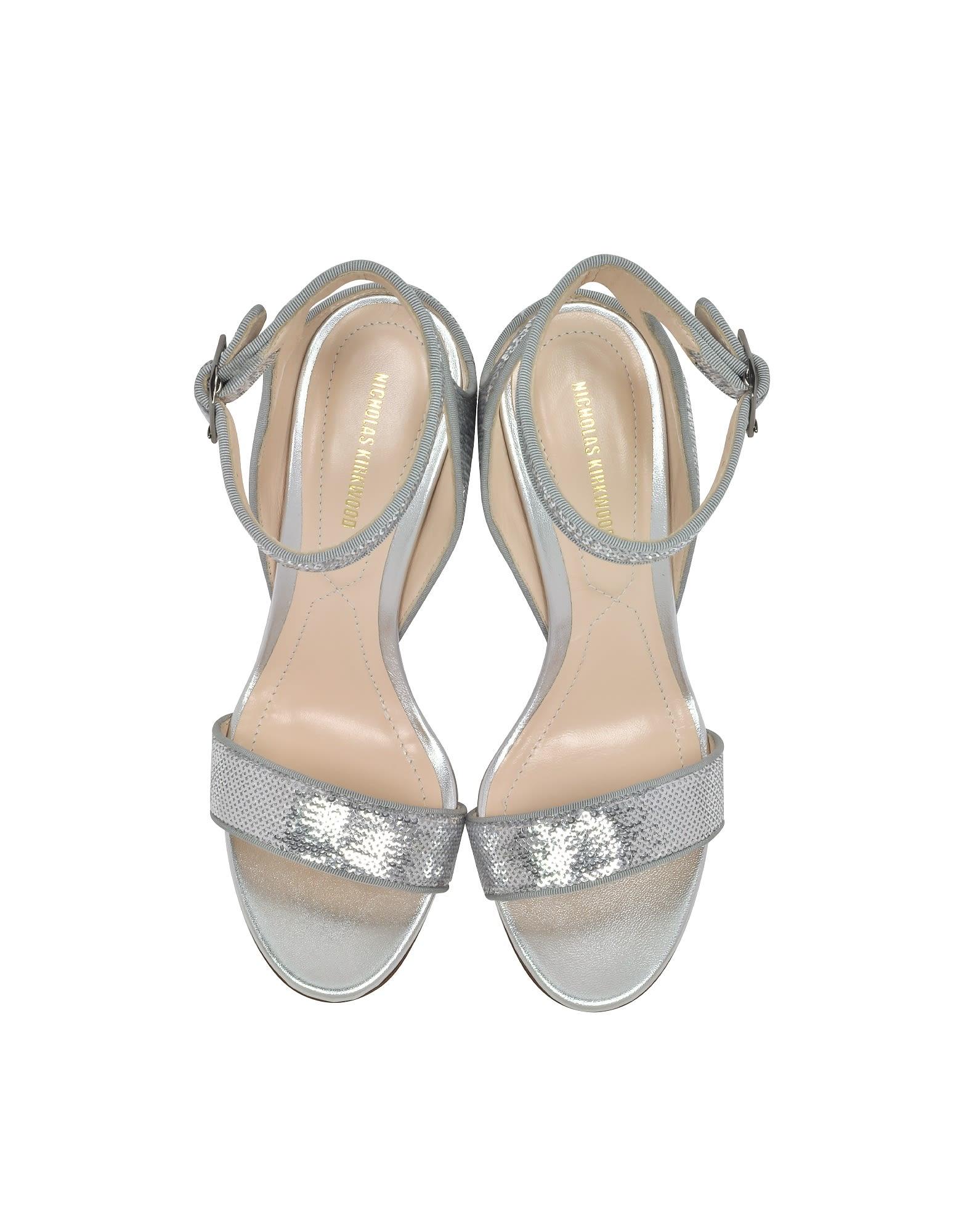 24f1bd1a5e4 Nicholas Kirkwood Nicholas Kirkwood Silver Sequins 90mm Lola Pearl ...
