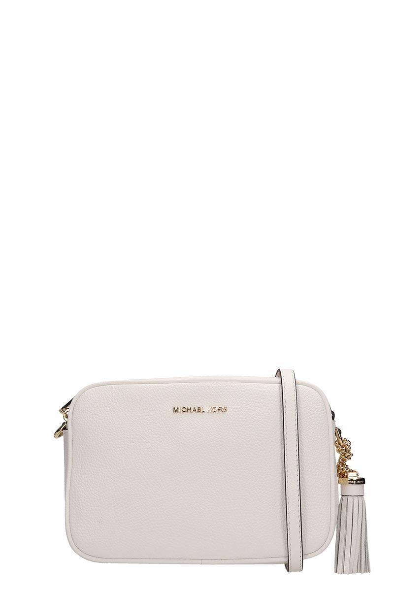 3c9fd2fb30b2 Michael Kors Michael Kors Ginny Leather Crossbody - white - 10927668 ...