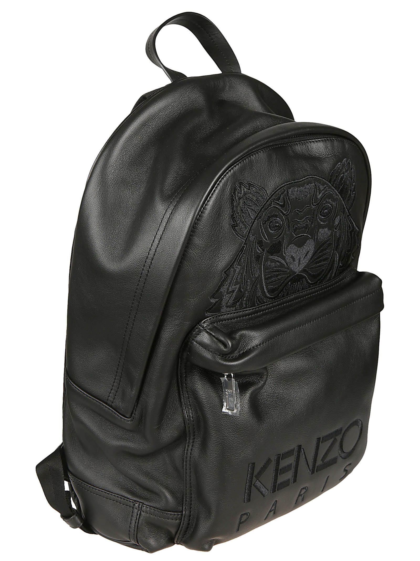 f93fd9dbe9 ... Kenzo Embroidered Tiger Logo Backpack - Black
