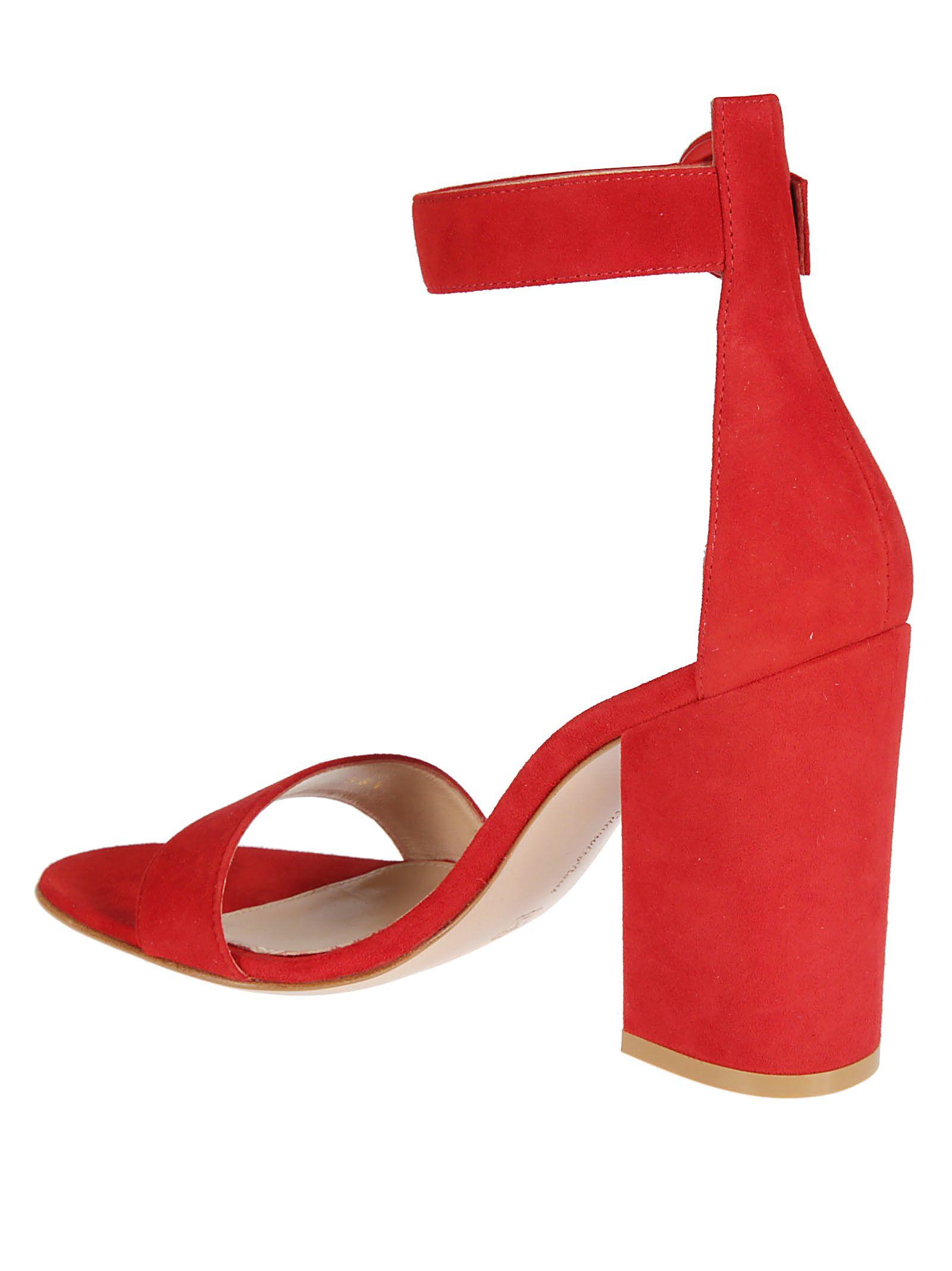 10617d254f0a Gianvito Rossi Gianvito Rossi Versilia Block Heel Sandals - Red ...