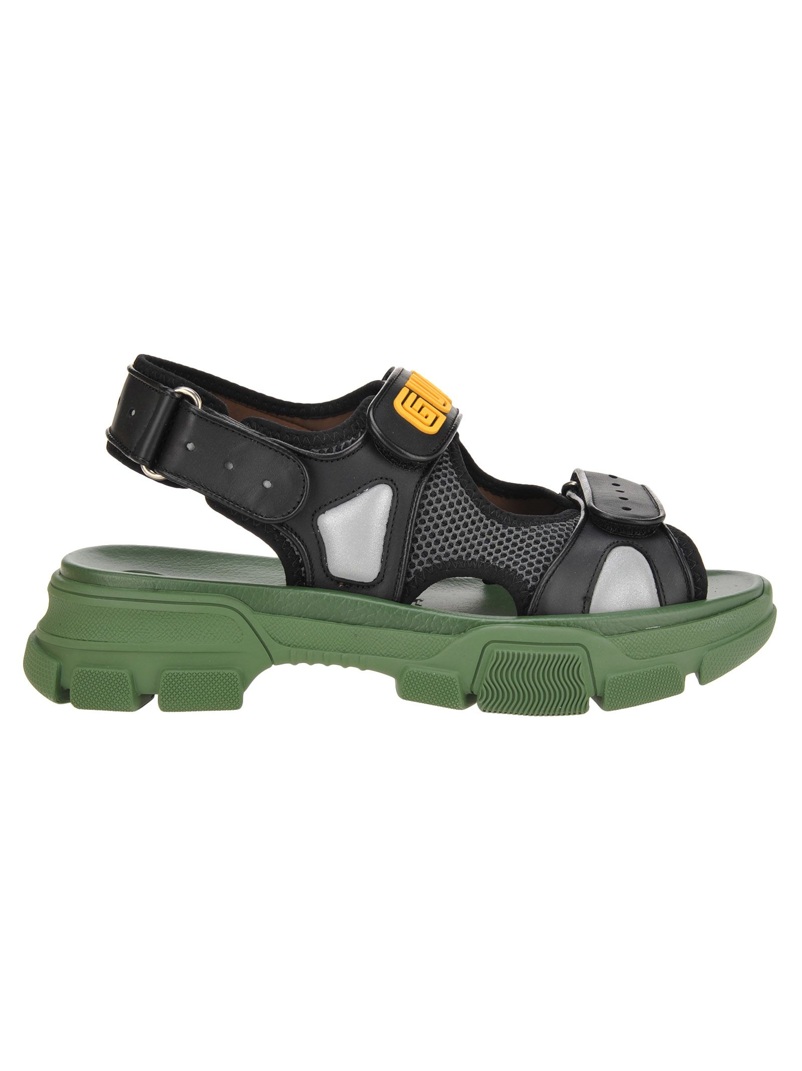 6b24d282744 Gucci Gucci Aguru Sandal - BLACK + GREEN - 10831701