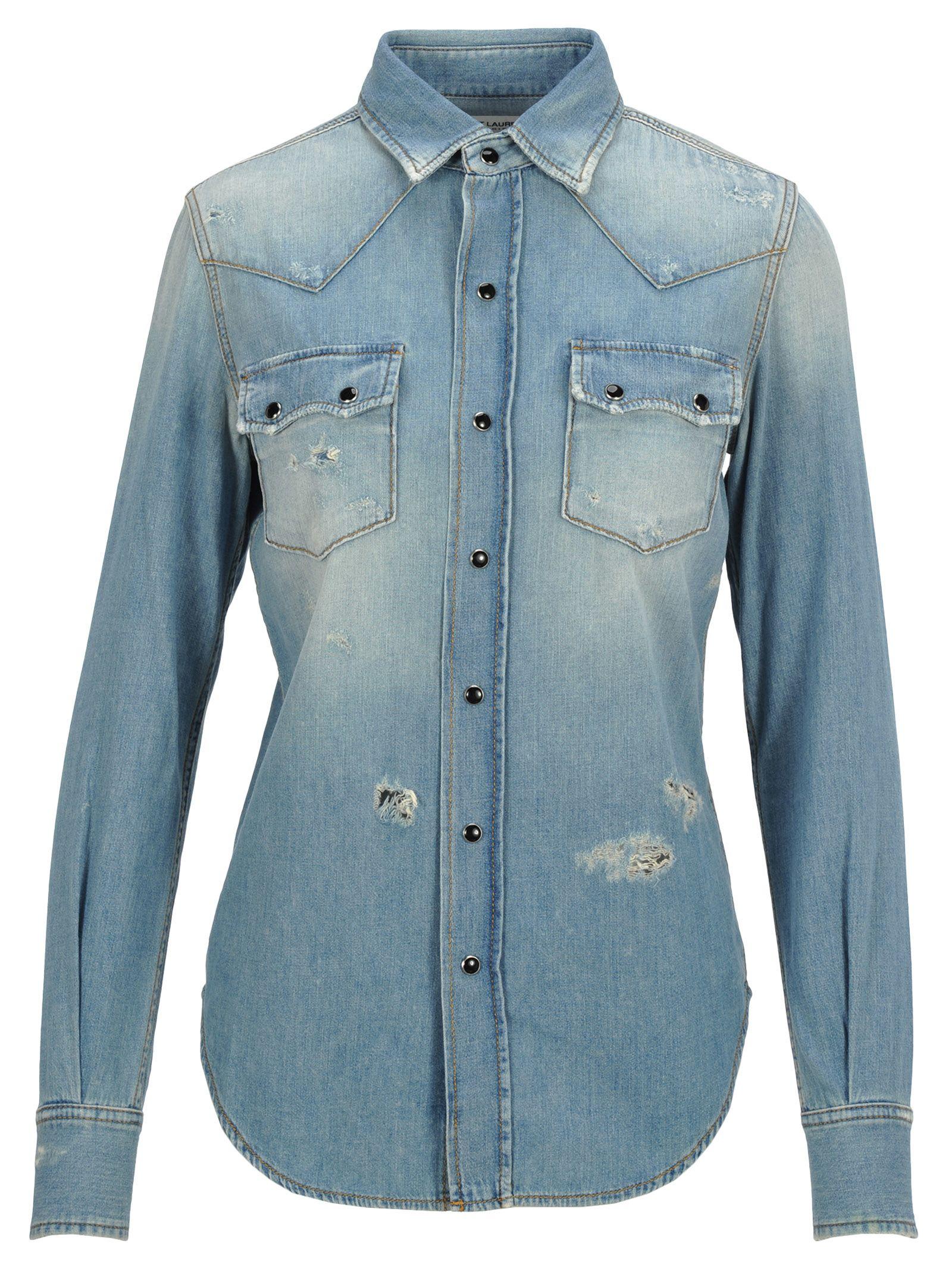 bdbf40234dd Saint Laurent Saint Laurent Shirt Denim Broken - Basic - 10839608 ...