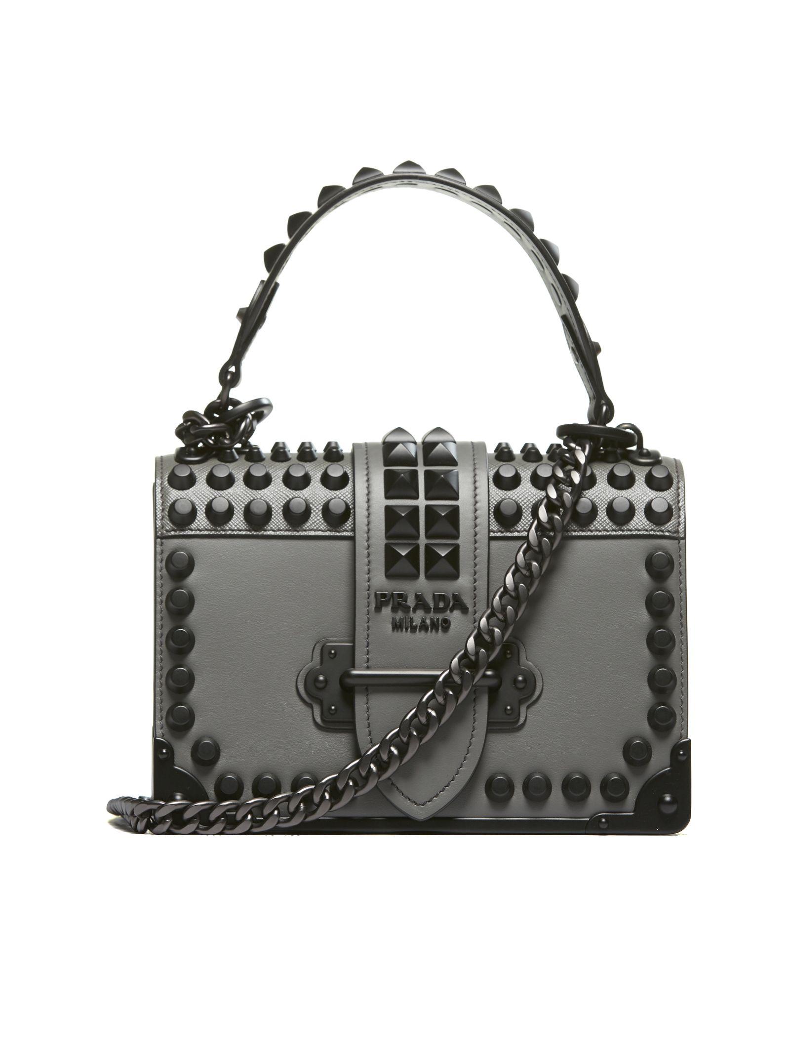 bf0510bb6e2b Prada Prada Shoulder Bag - Grigio nero - 10650916 | italist
