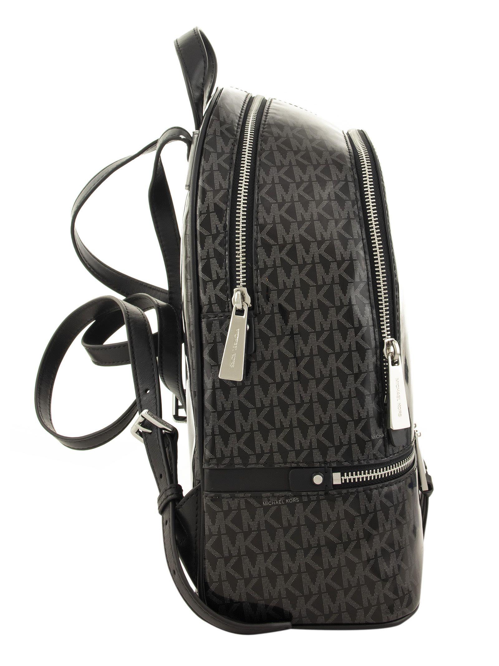 d31f1adb8d8b Michael Kors Michael Kors Monogram Backpack - BLACK - 10853852   italist