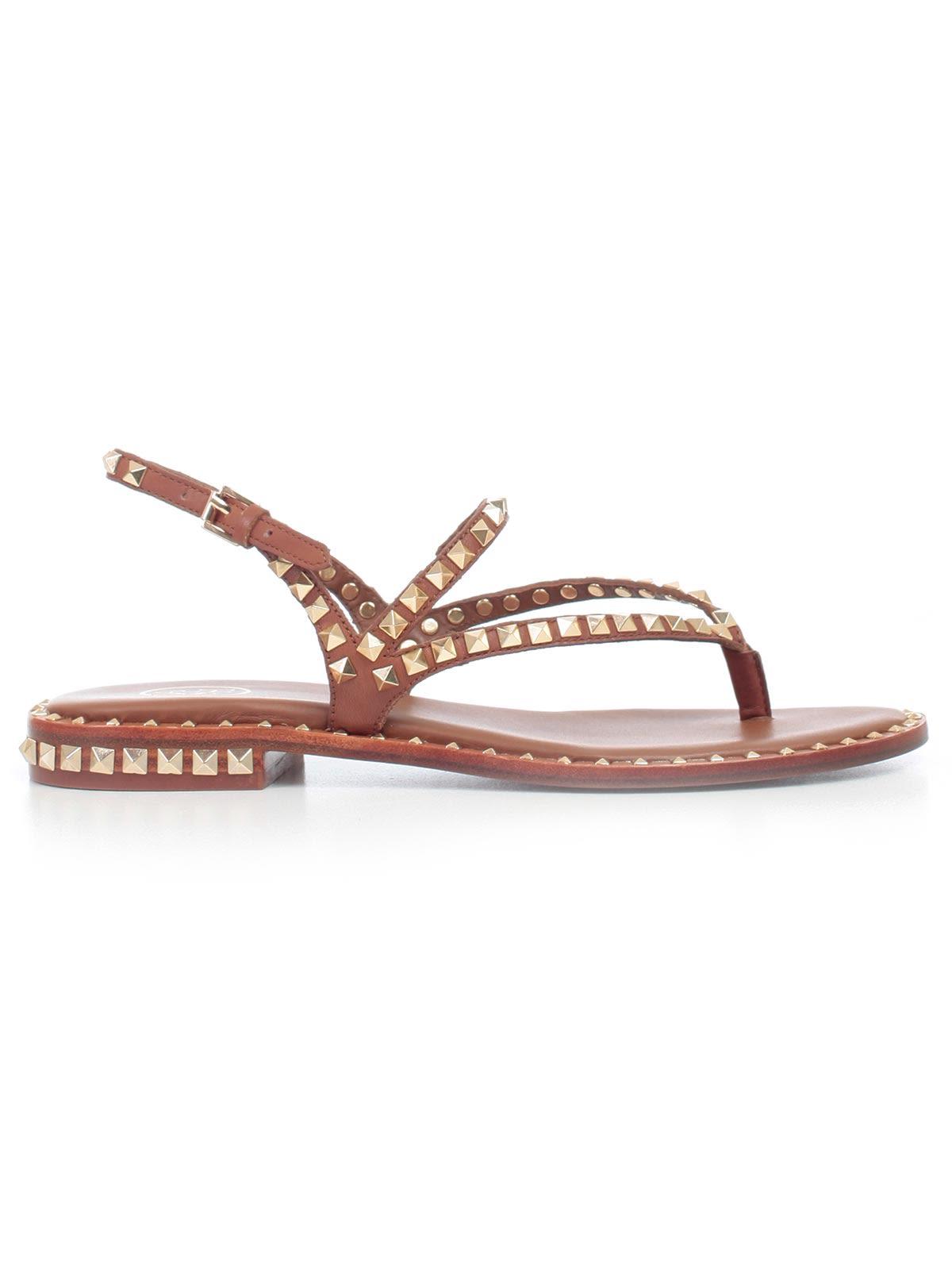 5e4f5b4e52ae Ash Ash Peps Studded Sandals - Brown - 10792858