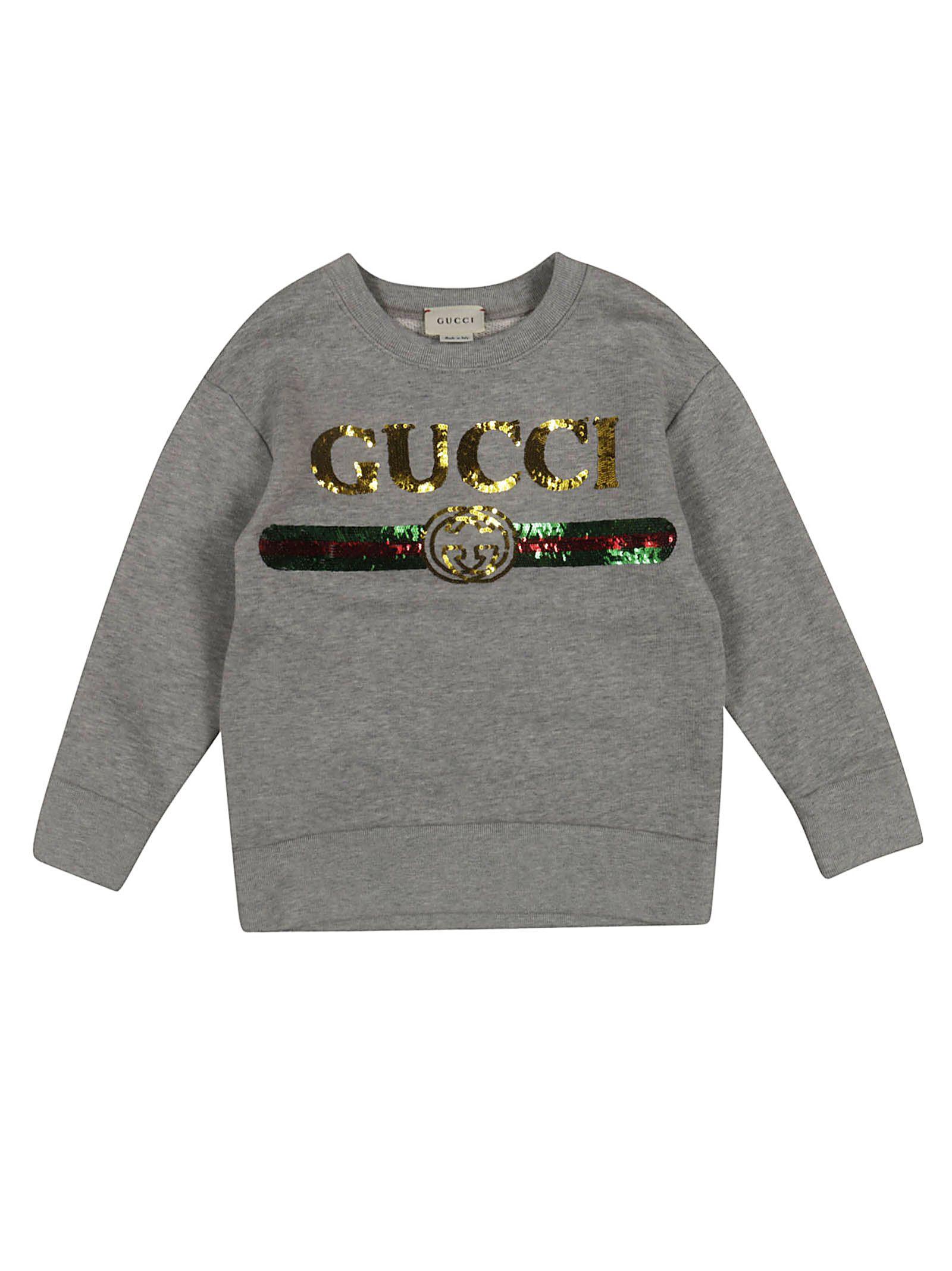 2485b1bb Gucci Gucci Sequin Logo Sweatshirt - Grey - 10920887 | italist