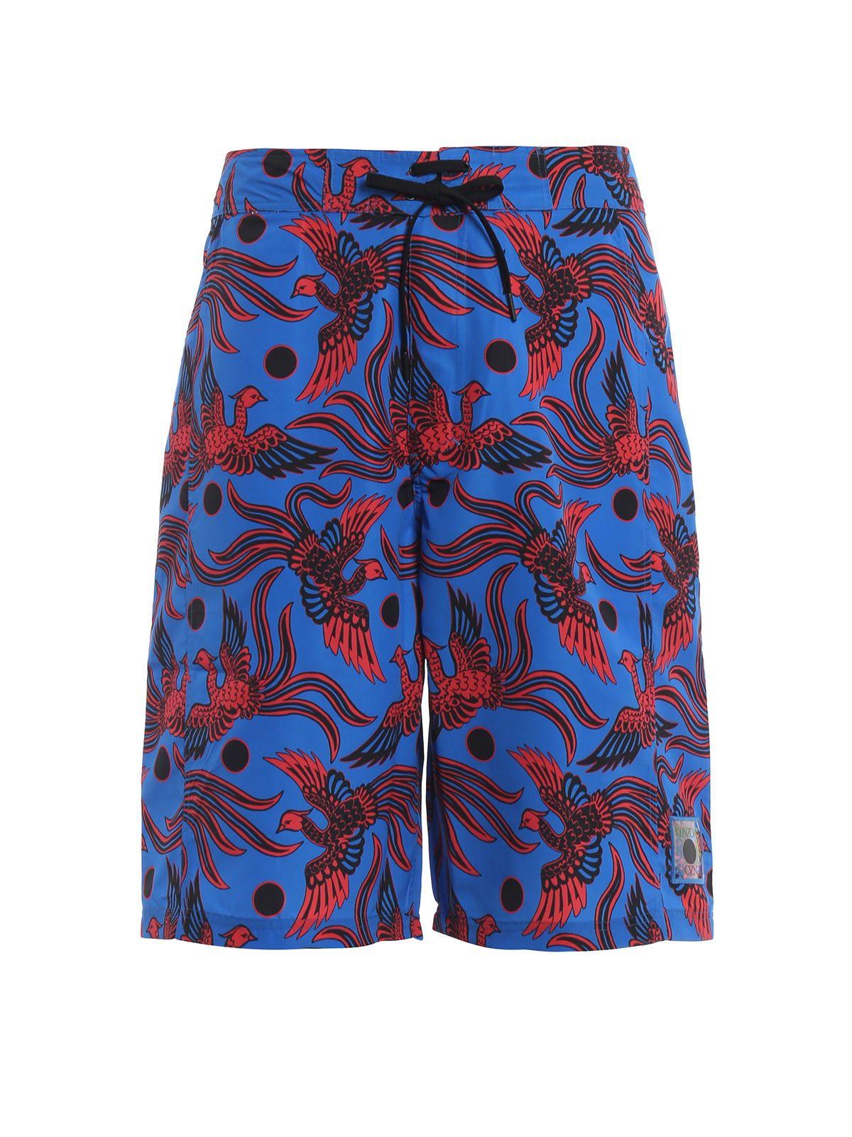 12cdbc3e Kenzo Kenzo Bird Print Swimming Shorts - Cobalt - 10922004 | italist