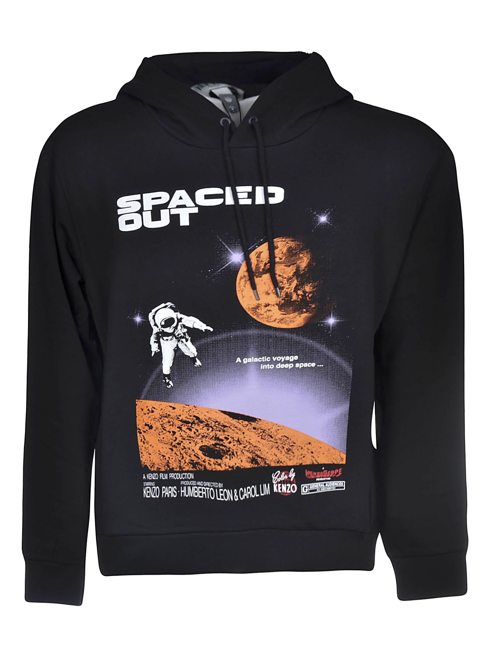a6e7ccc4 Kenzo Kenzo Spaced Out Hoodie - Black - 10688470 | italist