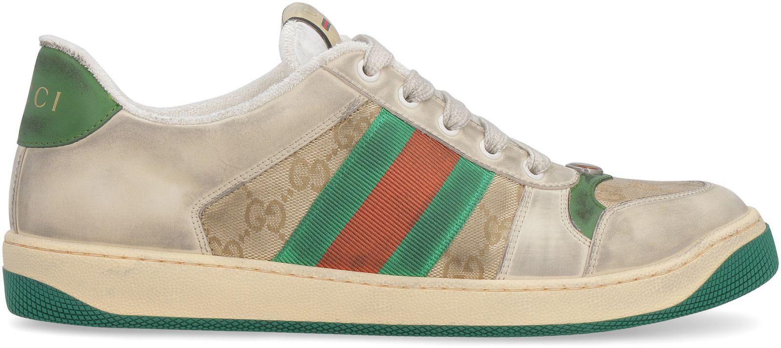 7dcf6d8bba4 Gucci Gucci Screener Gg Low-top Sneakers - Beige - 10879574
