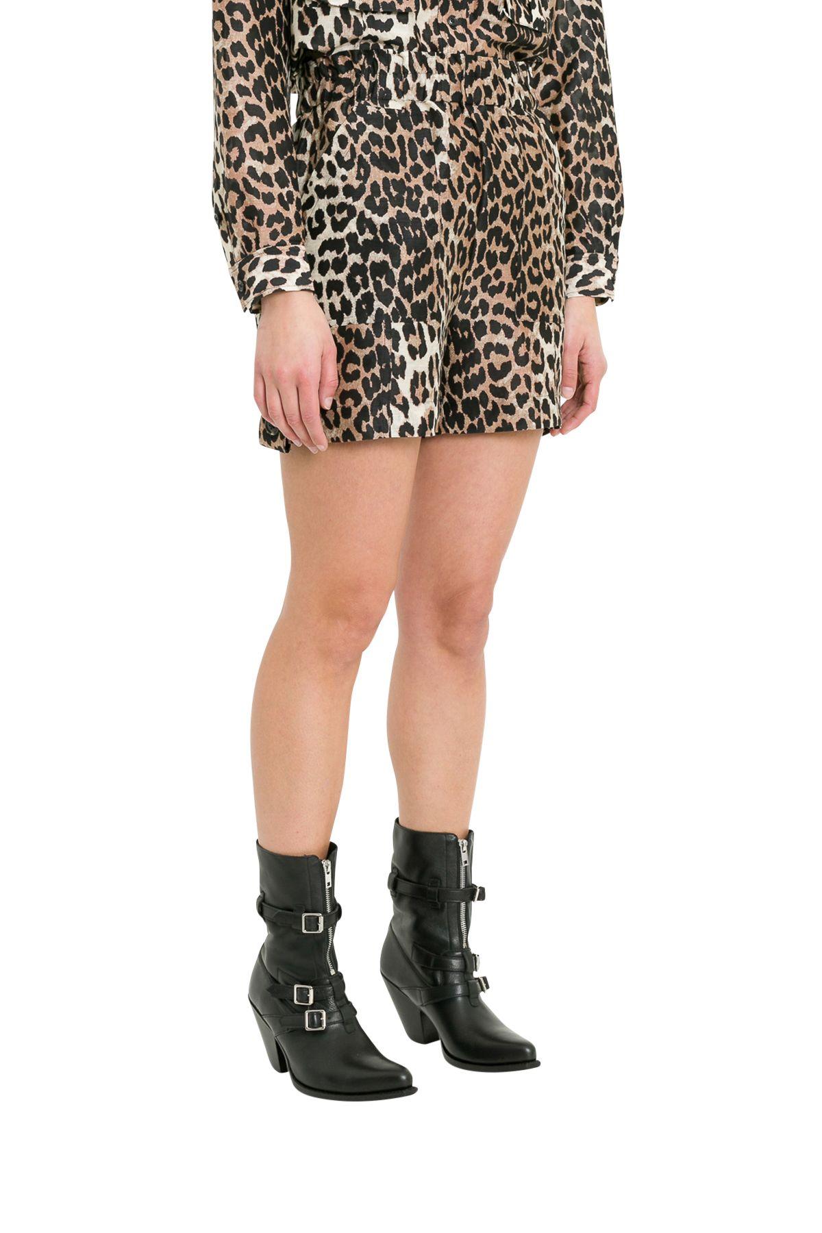 3db178361d55 Ganni Ganni Cedar Leopard Printed Shorts - Marrone - 10903515 | italist